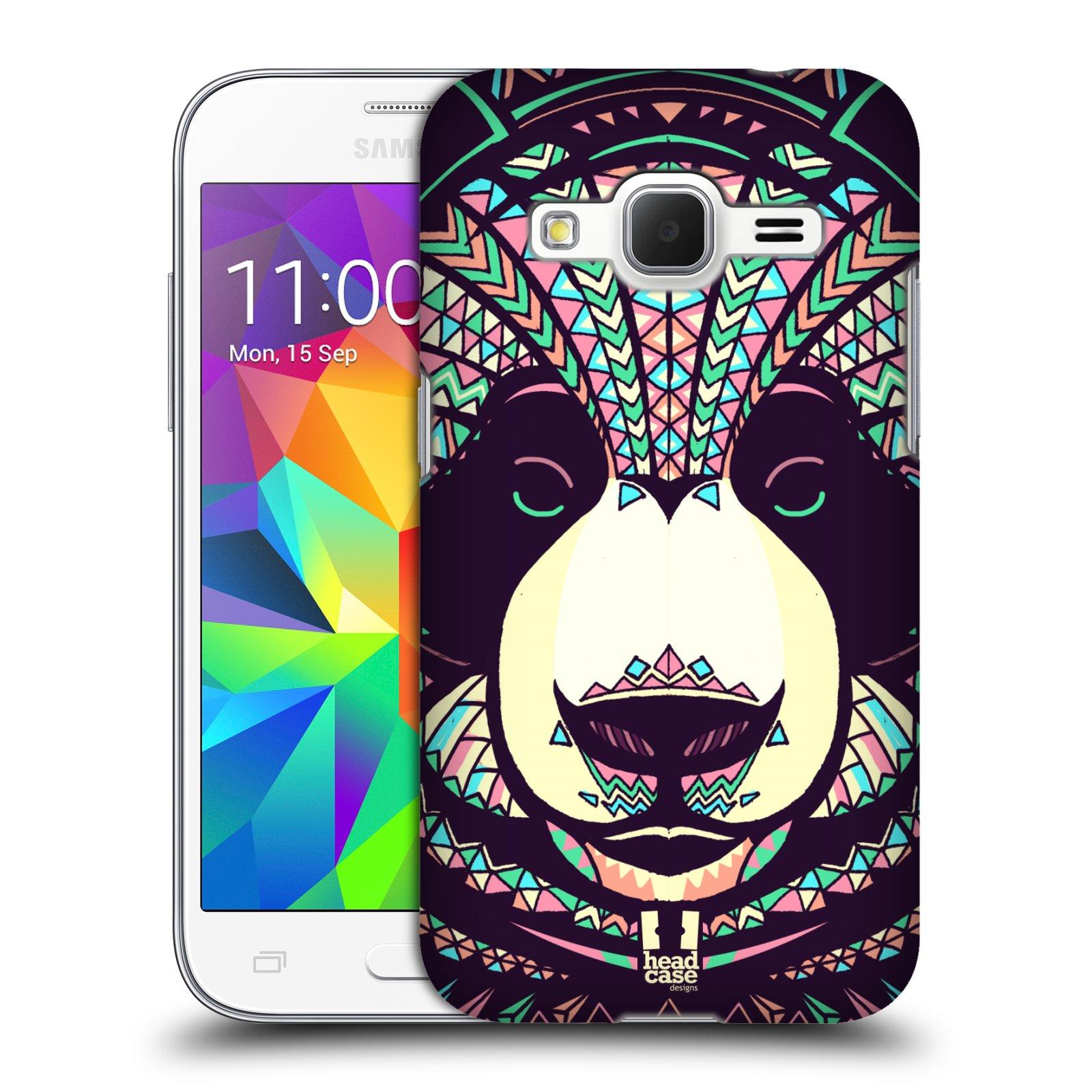 HEAD CASE plastový obal na mobil SAMSUNG GALAXY Core Prime (Core Prime VE) vzor Aztécký motiv zvíře 3 panda
