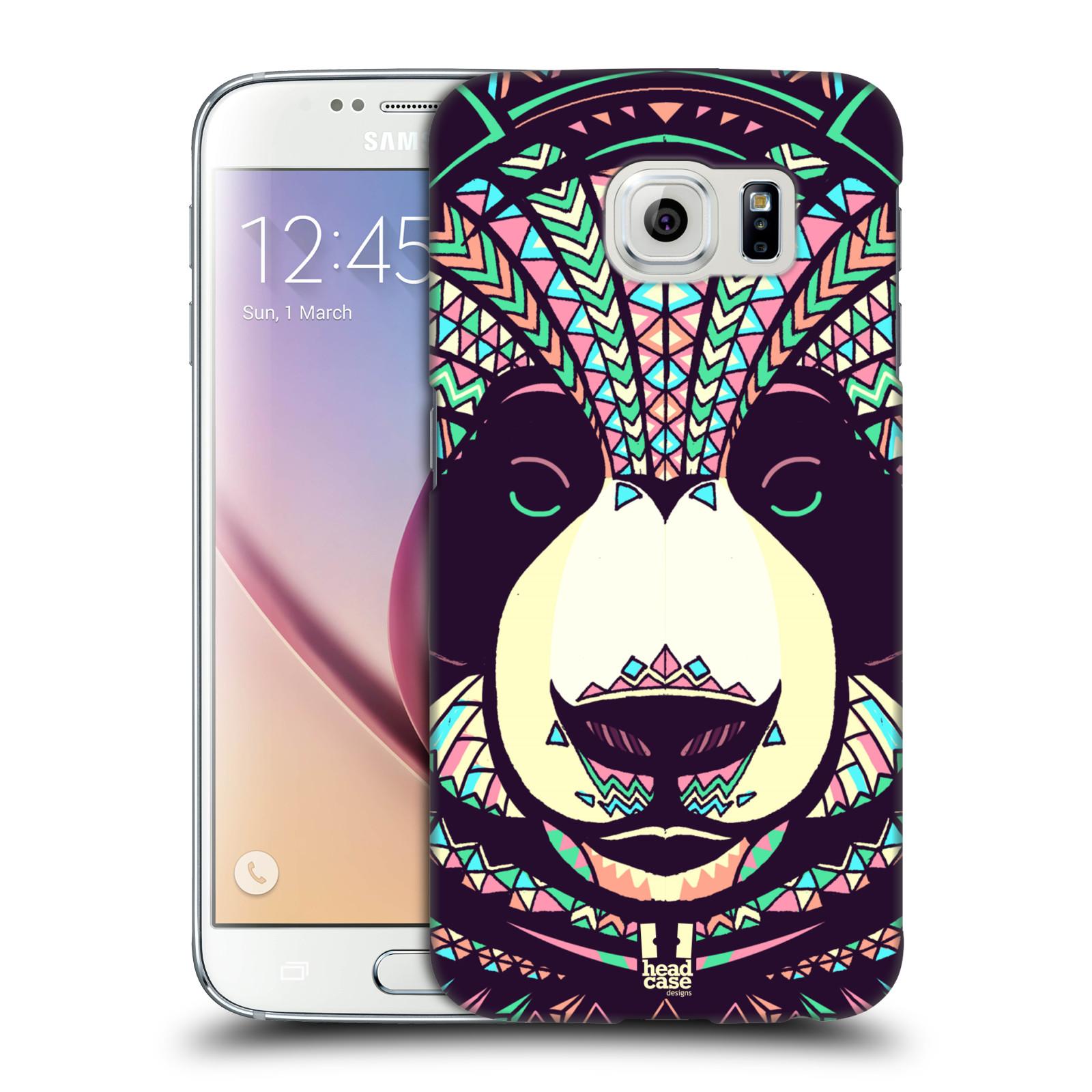 HEAD CASE plastový obal na mobil SAMSUNG Galaxy S6 (G9200, G920F) vzor Aztécký motiv zvíře 3 panda
