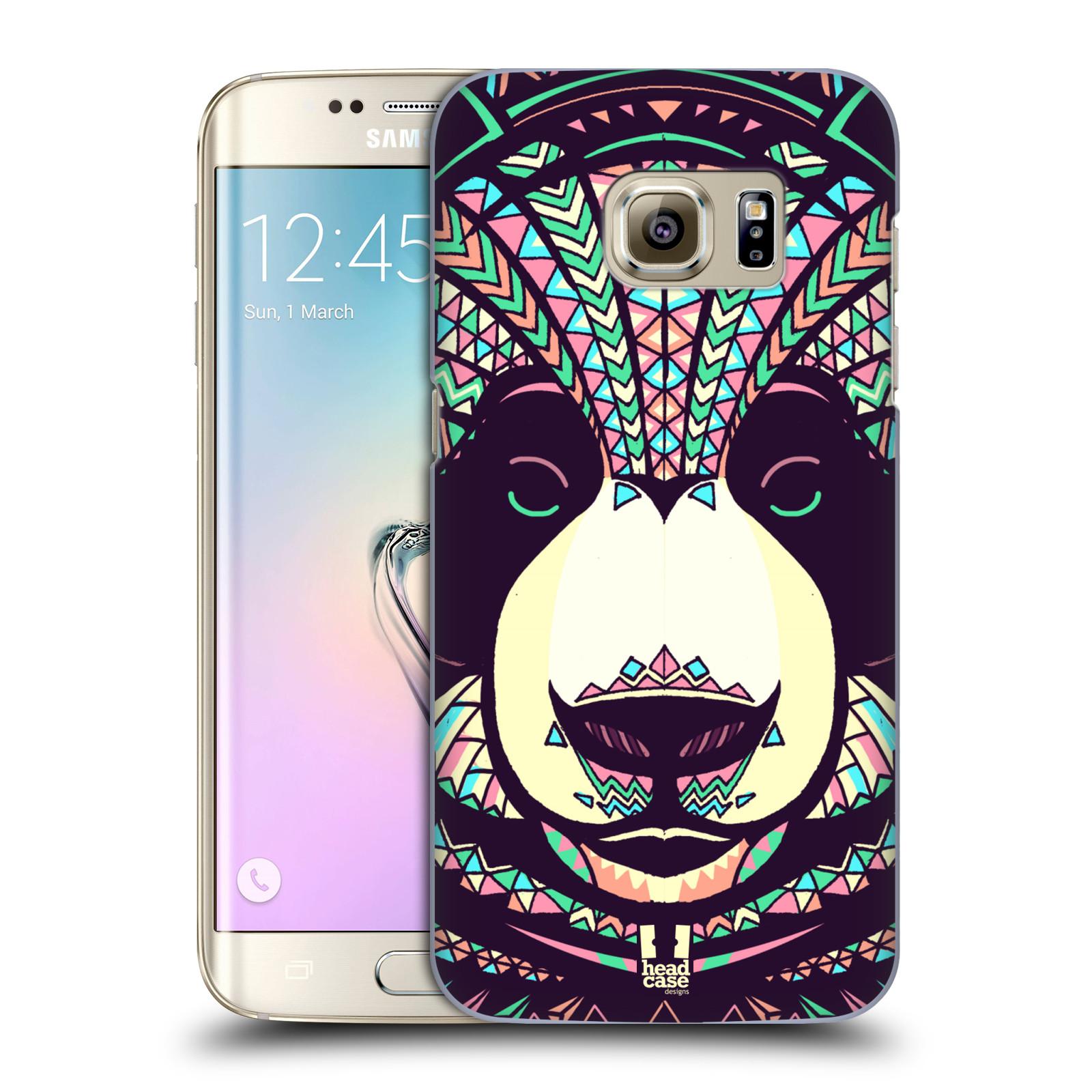 HEAD CASE plastový obal na mobil SAMSUNG GALAXY S7 EDGE vzor Aztécký motiv zvíře 3 panda