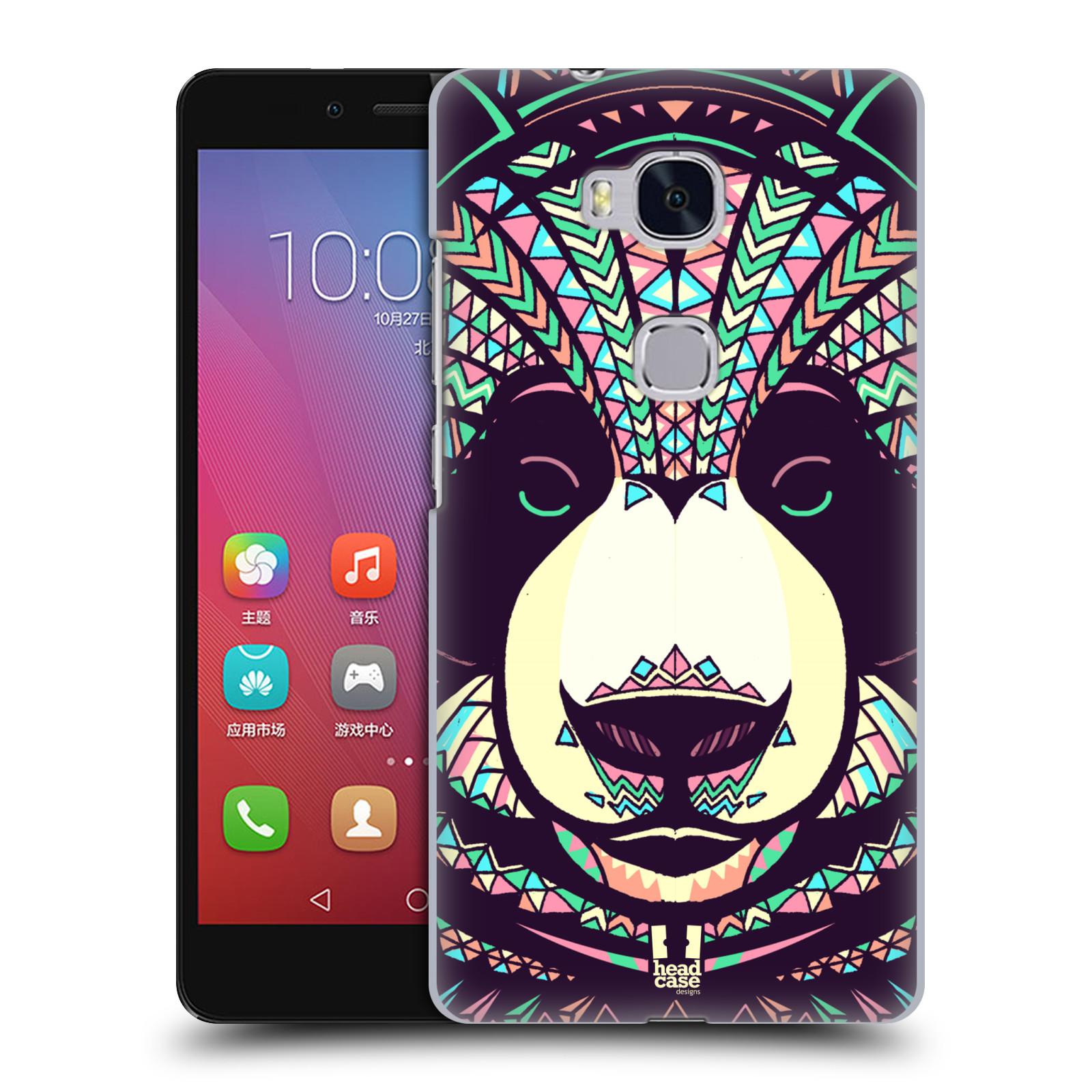 HEAD CASE pevný plastový obal na mobil HUAWEI HONOR 5X vzor Aztécký motiv zvíře 3 panda
