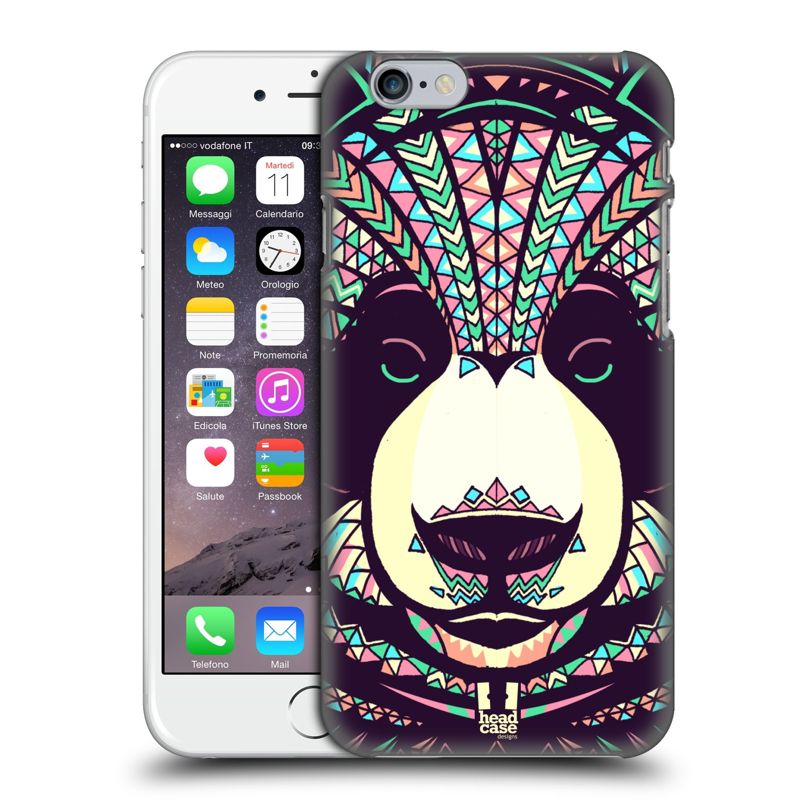 Plastové pouzdro pro mobil Apple Iphone 6/6S vzor Aztécký motiv zvíře 3 panda