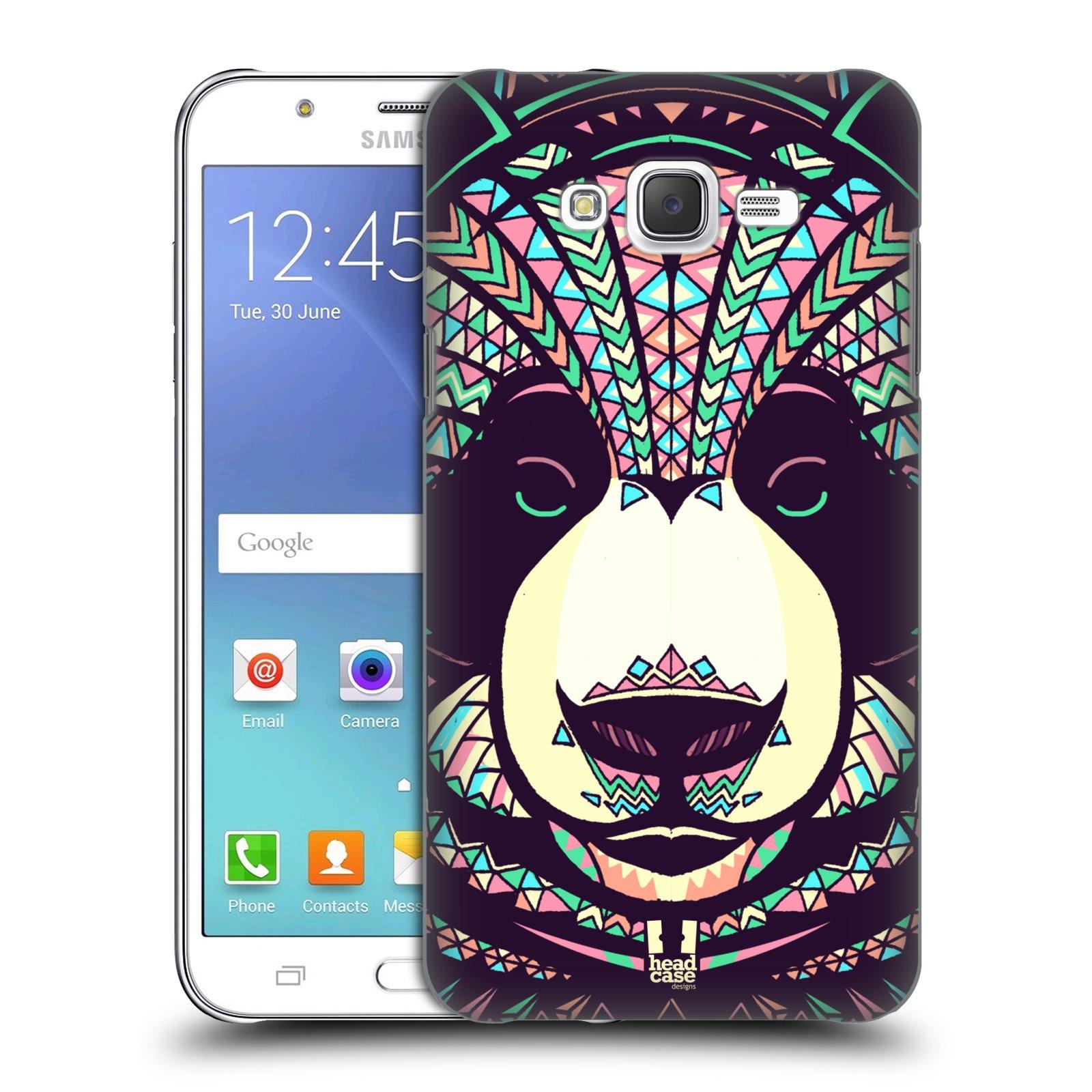 HEAD CASE plastový obal na mobil SAMSUNG Galaxy J7, J700 vzor Aztécký motiv zvíře 3 panda