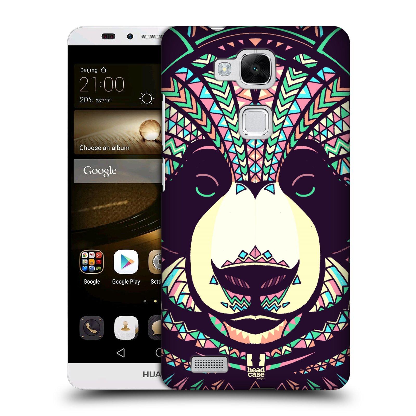 HEAD CASE plastový obal na mobil Huawei Mate 7 vzor Aztécký motiv zvíře 3 panda