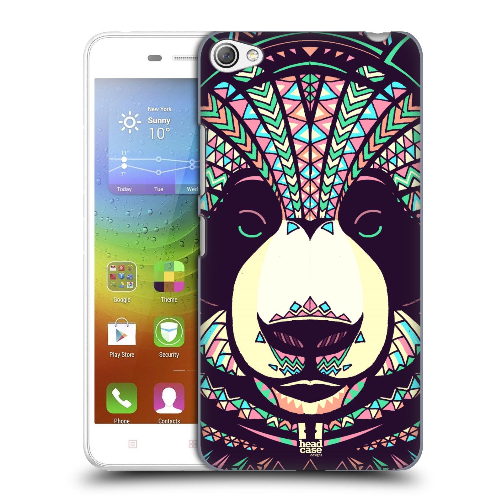 HEAD CASE pevný plastový obal na mobil LENOVO S60 / LENOVO S60 DUAL SIM vzor Aztécký motiv zvíře 3 panda