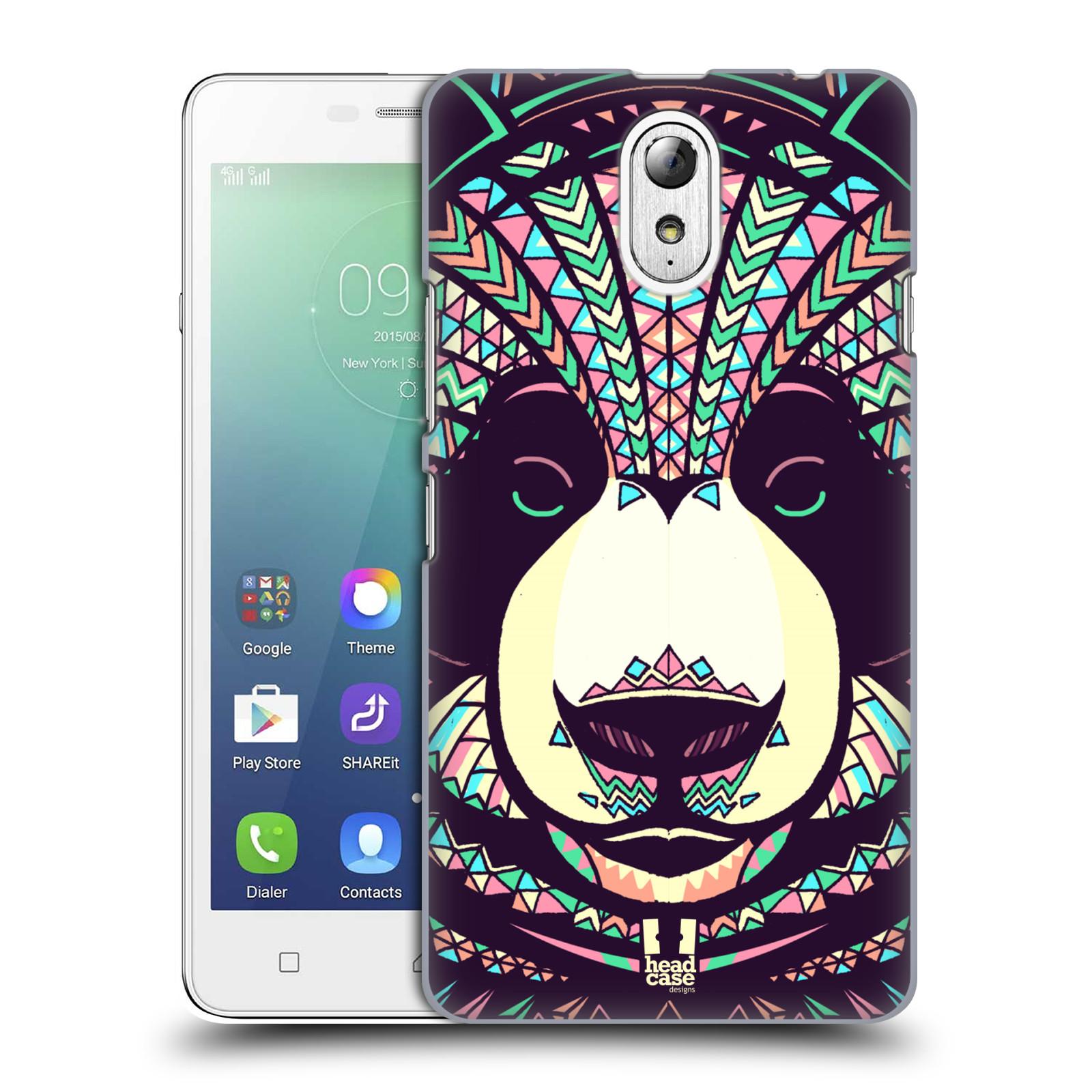 HEAD CASE pevný plastový obal na mobil LENOVO VIBE P1m / LENOVO VIBE p1m DUAL SIM vzor Aztécký motiv zvíře 3 panda