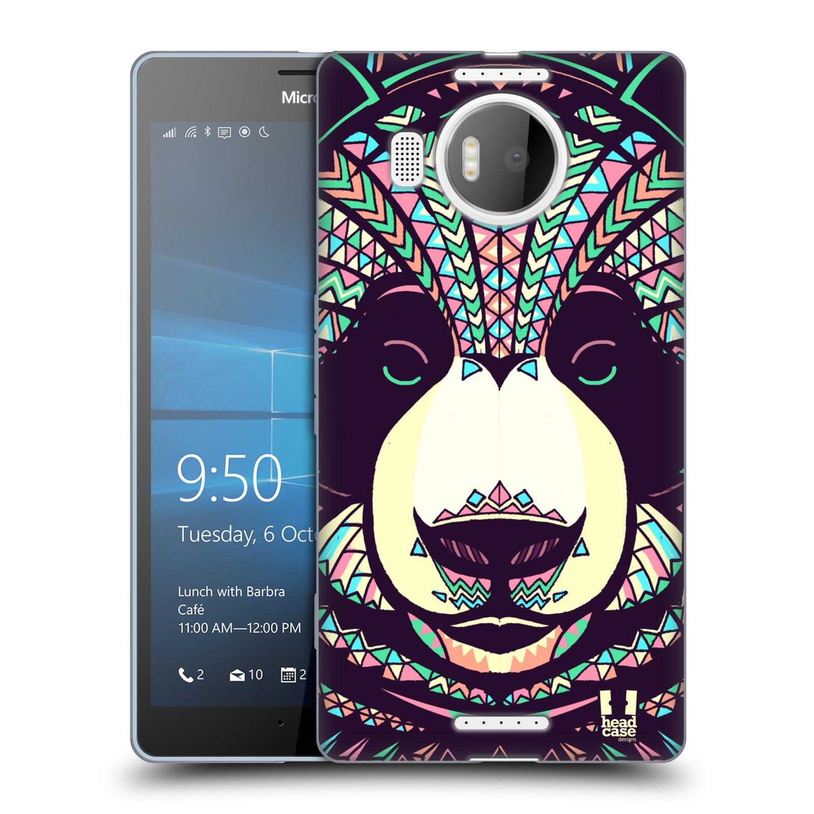 HEAD CASE silikonový obal na mobil NOKIA, MICROSOFT LUMIA 950 XL / LUMIA 950 XL DUAL SIM vzor Aztécký motiv zvíře 3 panda