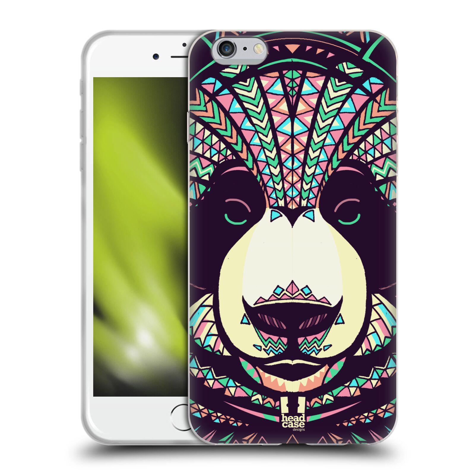 HEAD CASE silikonový obal na mobil Apple Iphone 6 PLUS/ 6S PLUS vzor Aztécký motiv zvíře 3 panda