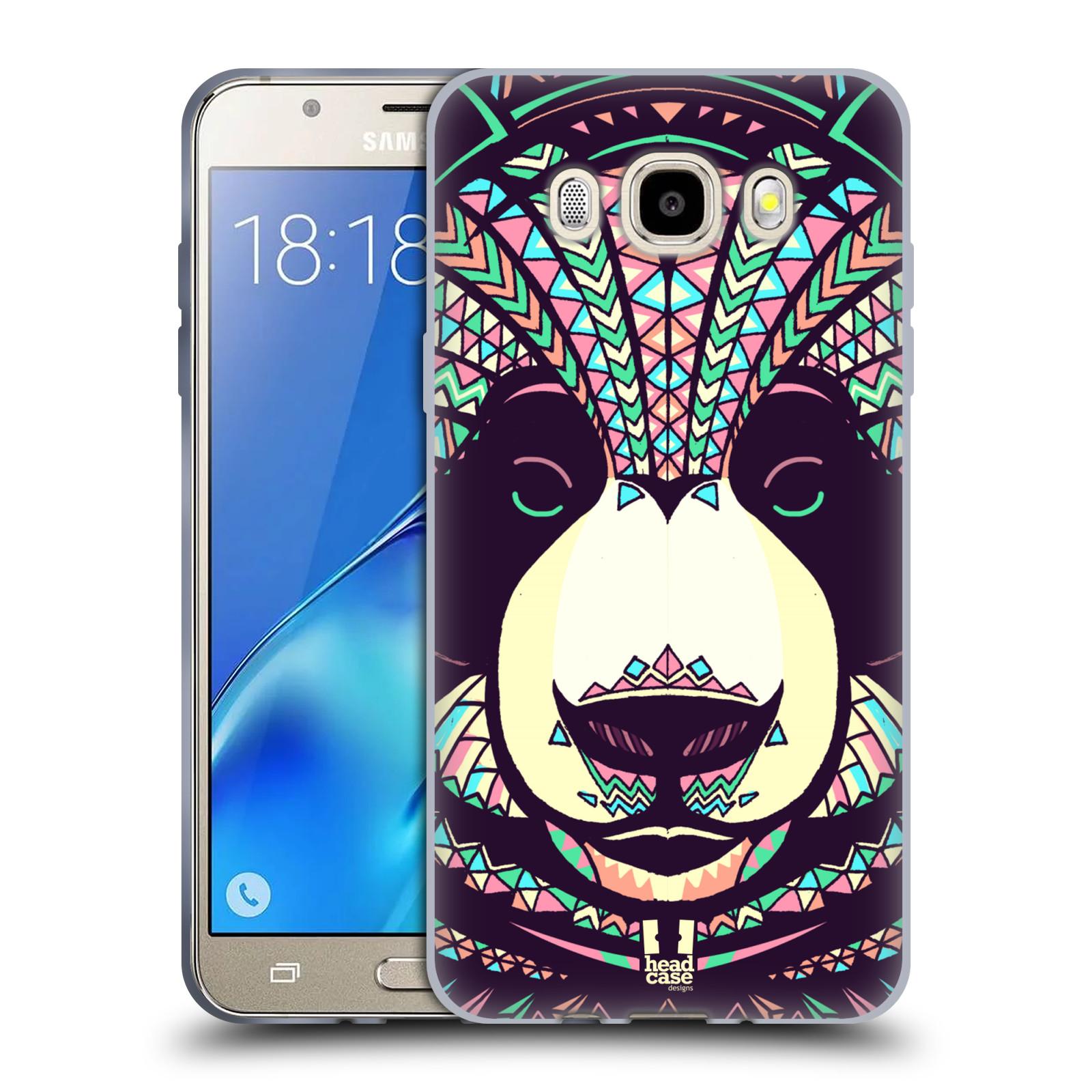 HEAD CASE silikonový obal, kryt na mobil Samsung Galaxy J5 2016, J510, J510F, (J510F DUAL SIM) vzor Aztécký motiv zvíře 3 panda