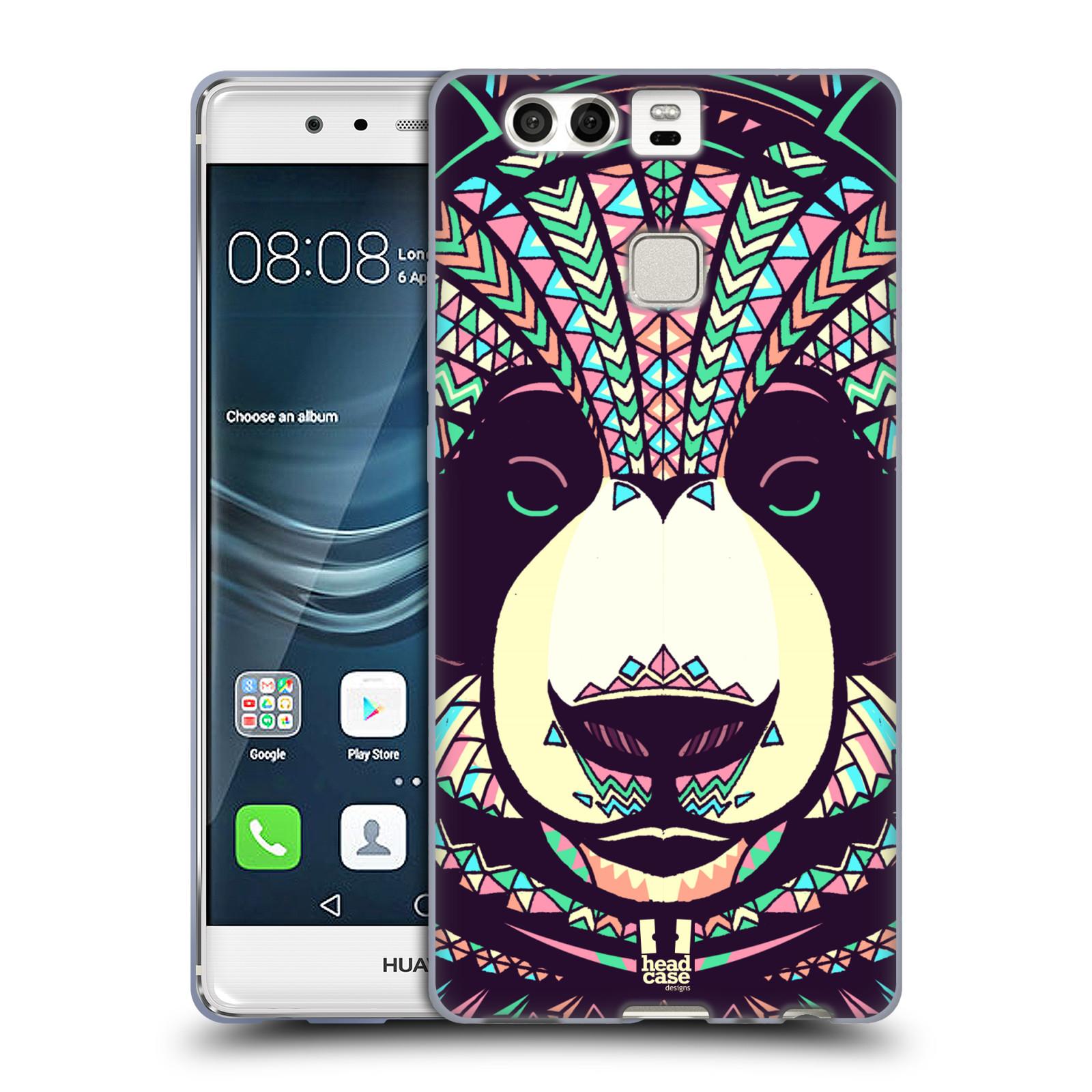 HEAD CASE silikonový obal na mobil Huawei P9 / P9 DUAL SIM vzor Aztécký motiv zvíře 3 panda