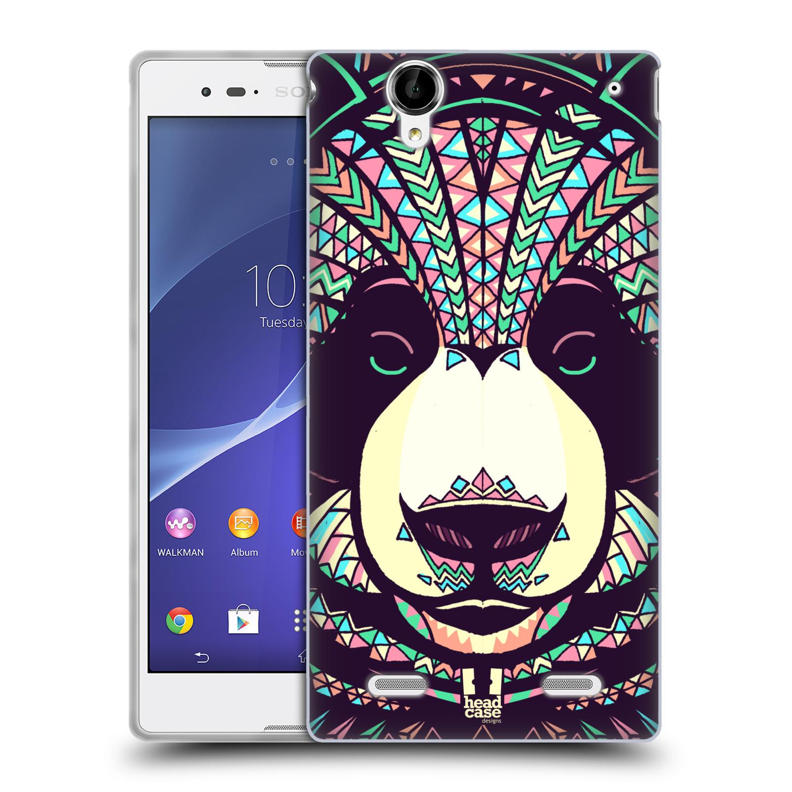 HEAD CASE silikonový obal na mobil Sony Xperia T2 Ultra/T2 Ultra DUAL SIM vzor Aztécký motiv zvíře 3 panda