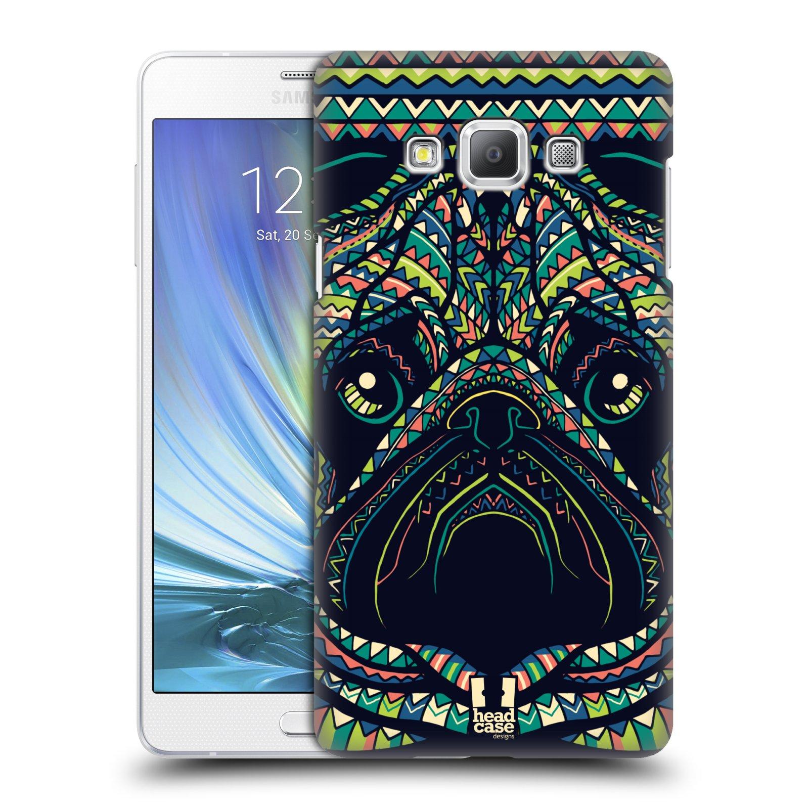 HEAD CASE plastový obal na mobil SAMSUNG GALAXY A7 vzor Aztécký motiv zvíře 3 mopsík