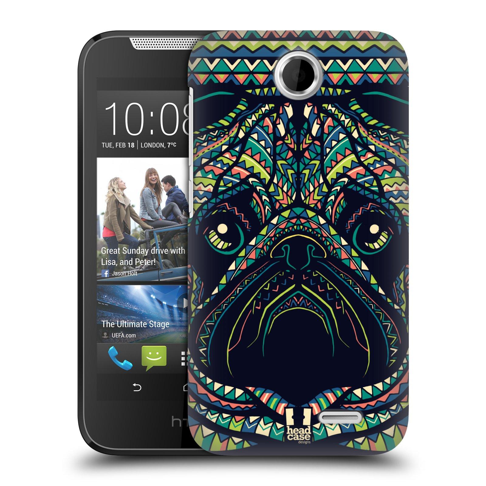 HEAD CASE plastový obal na mobil HTC Desire 310 vzor Aztécký motiv zvíře 3 mopsík