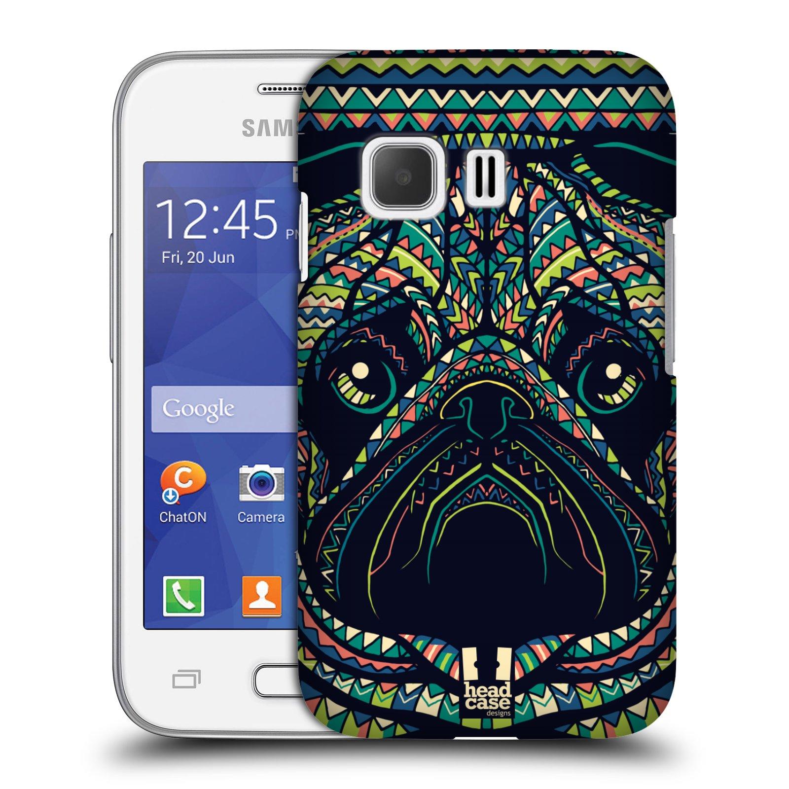 HEAD CASE plastový obal na mobil SAMSUNG Galaxy Young 2 (G130) vzor Aztécký motiv zvíře 3 mopsík