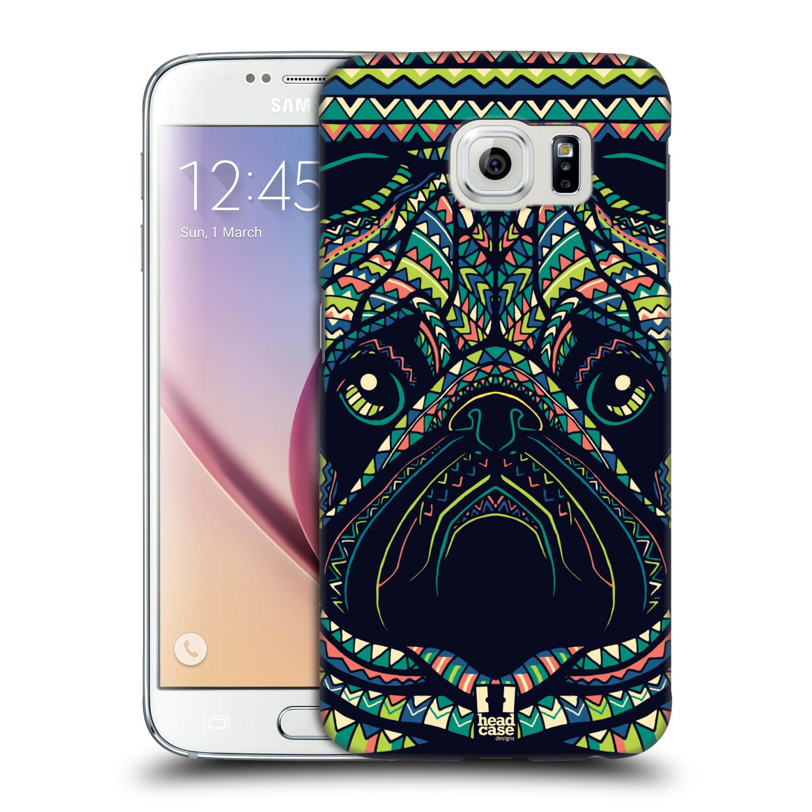 HEAD CASE plastový obal na mobil SAMSUNG Galaxy S6 (G9200, G920F) vzor Aztécký motiv zvíře 3 mopsík