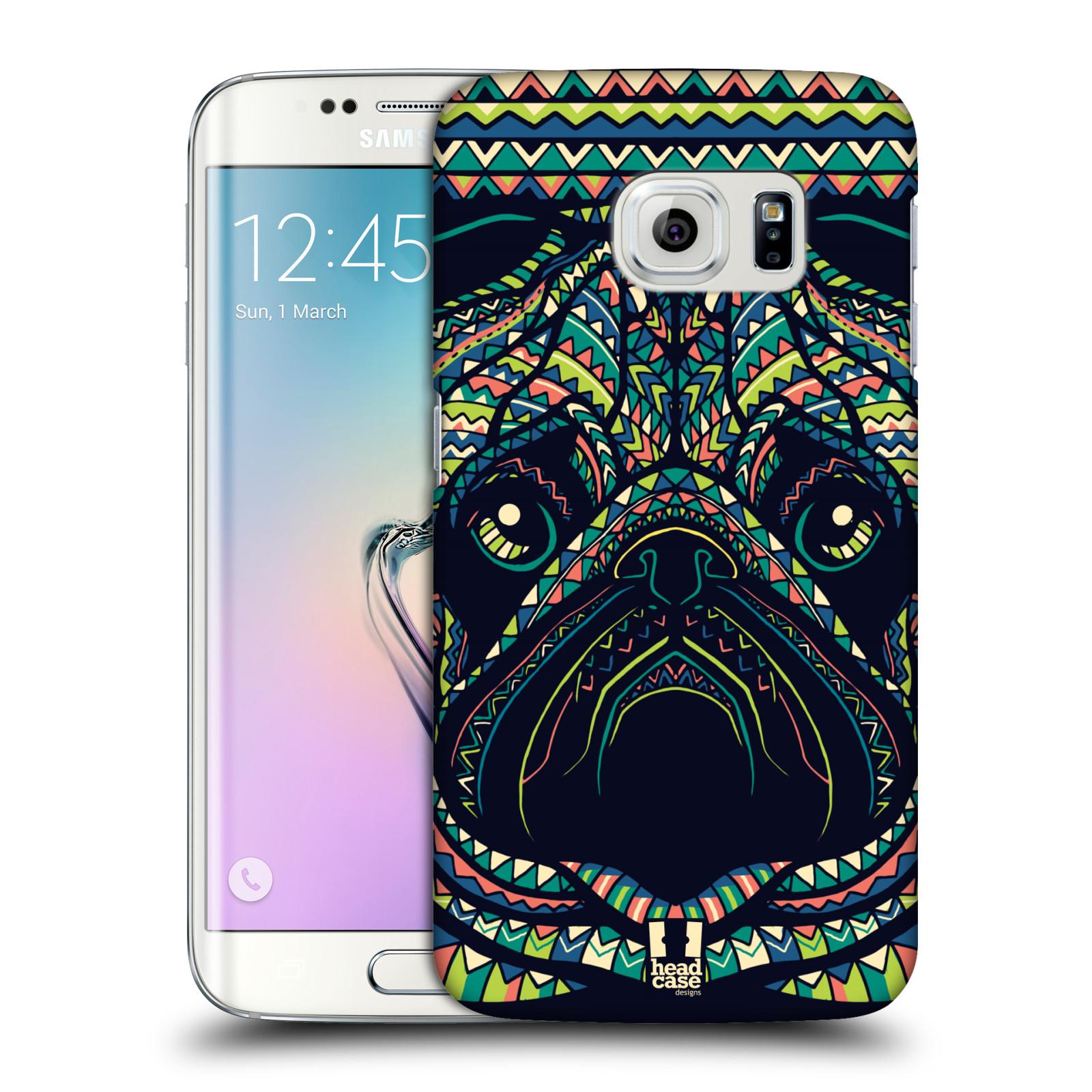 HEAD CASE plastový obal na mobil SAMSUNG Galaxy S6 EDGE (G9250, G925, G925F) vzor Aztécký motiv zvíře 3 mopsík
