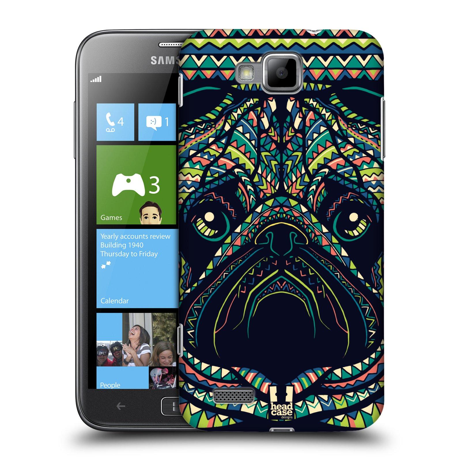 HEAD CASE plastový obal na mobil Samsung ATIV S vzor Aztécký motiv zvíře 3 mopsík