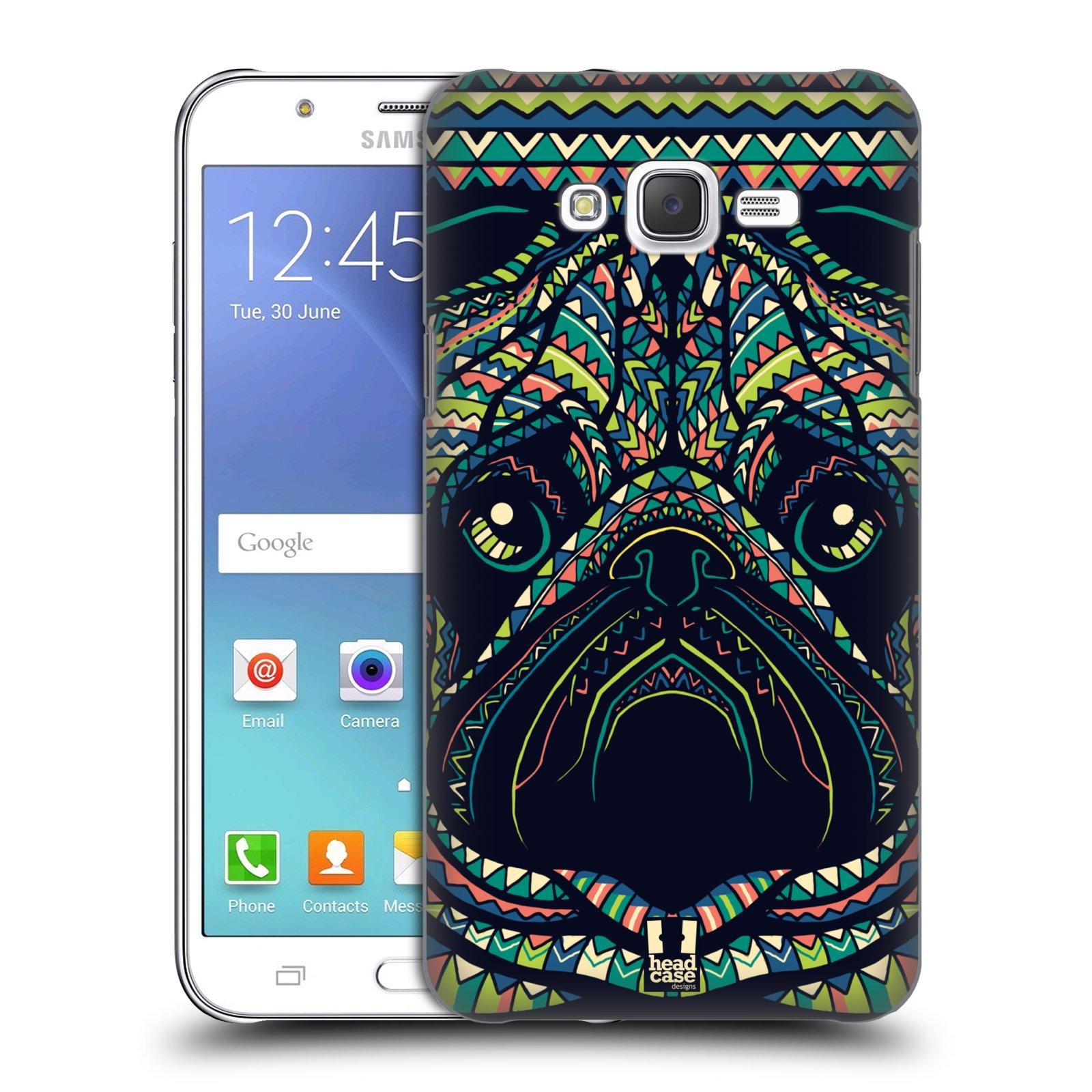 HEAD CASE plastový obal na mobil SAMSUNG Galaxy J7, J700 vzor Aztécký motiv zvíře 3 mopsík