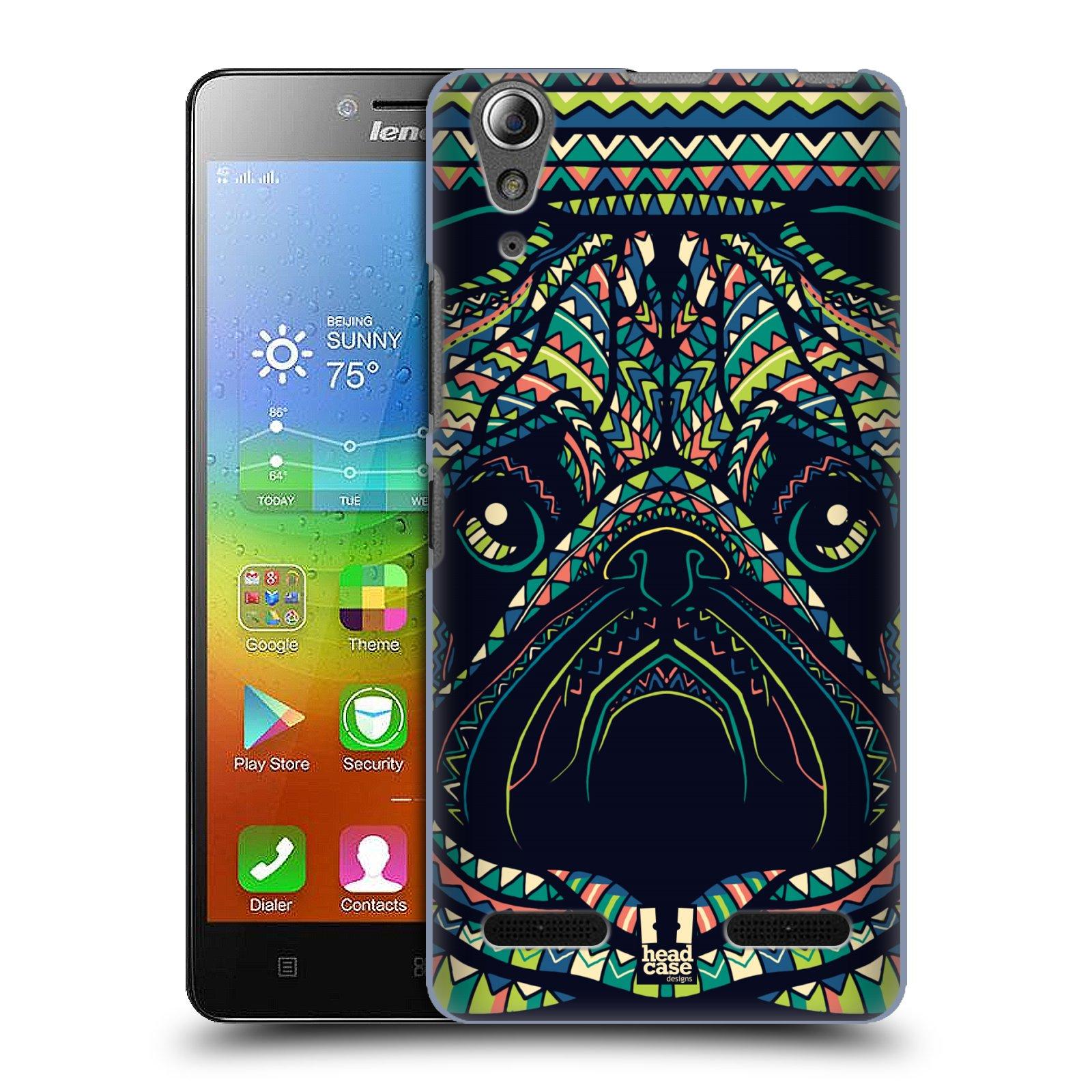 HEAD CASE pevný plastový obal na mobil LENOVO A6000 / A6000 PLUS vzor Aztécký motiv zvíře 3 mopsík