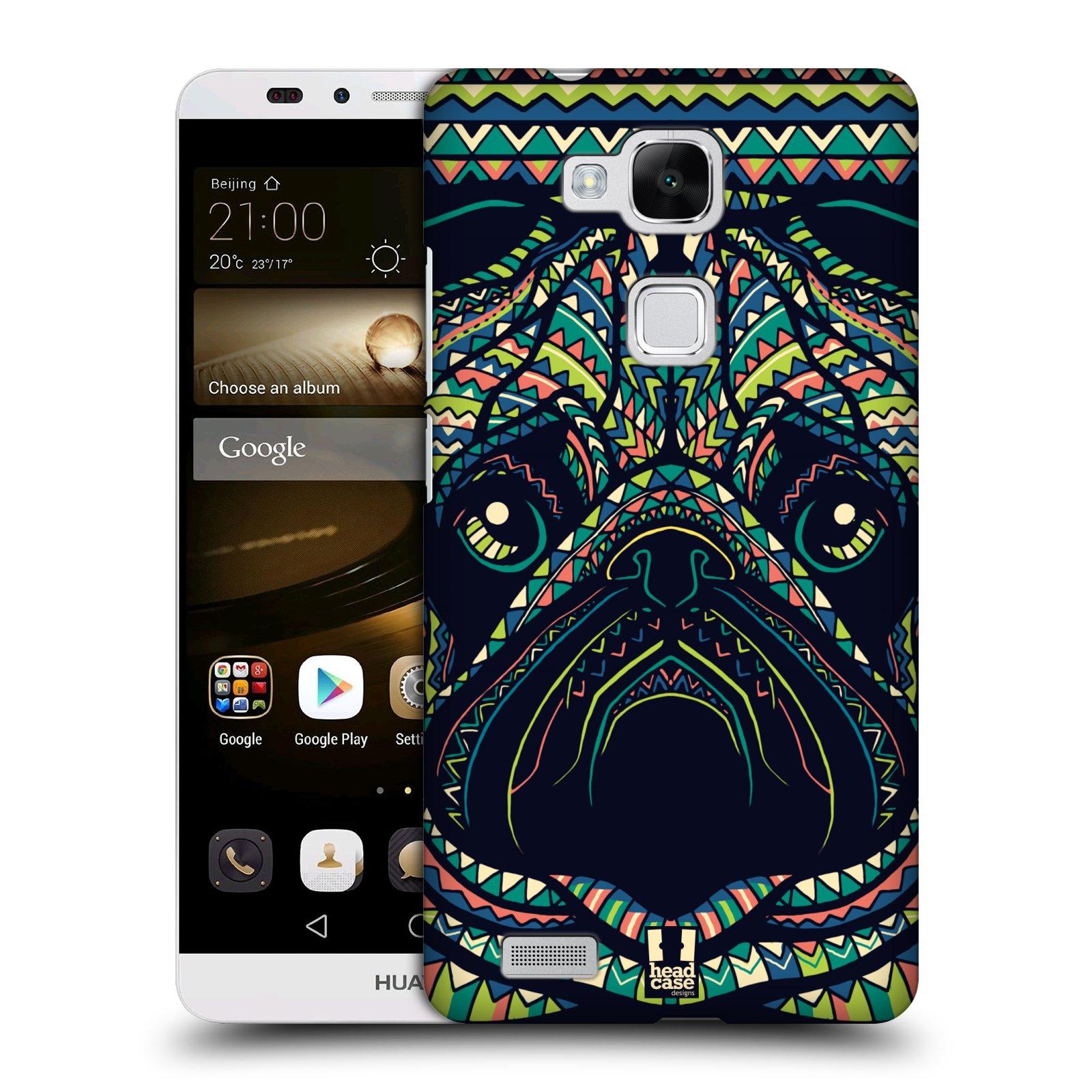 HEAD CASE plastový obal na mobil Huawei Mate 7 vzor Aztécký motiv zvíře 3 mopsík
