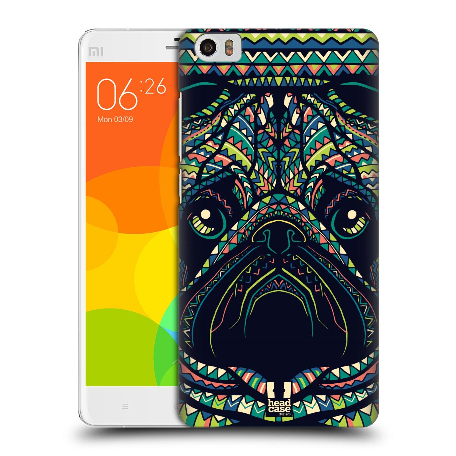 HEAD CASE pevný plastový obal na mobil XIAOMI Mi Note vzor Aztécký motiv zvíře 3 mopsík