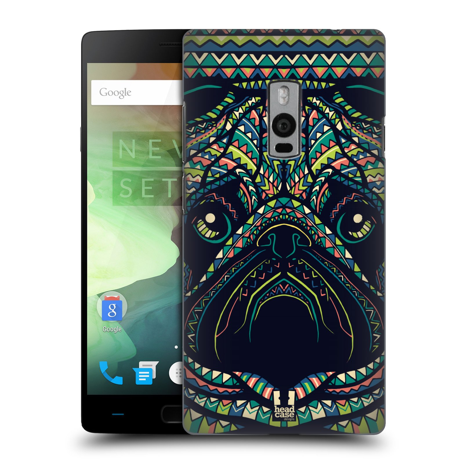 HEAD CASE pevný plastový obal na mobil OnePlus 2  ( TWO ) vzor Aztécký motiv zvíře 3 mopsík