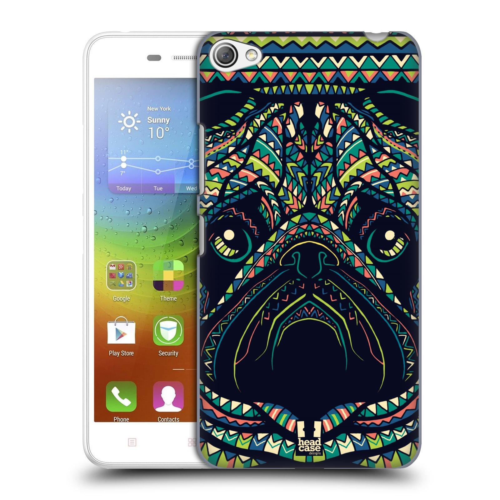 HEAD CASE pevný plastový obal na mobil LENOVO S60 / LENOVO S60 DUAL SIM vzor Aztécký motiv zvíře 3 mopsík