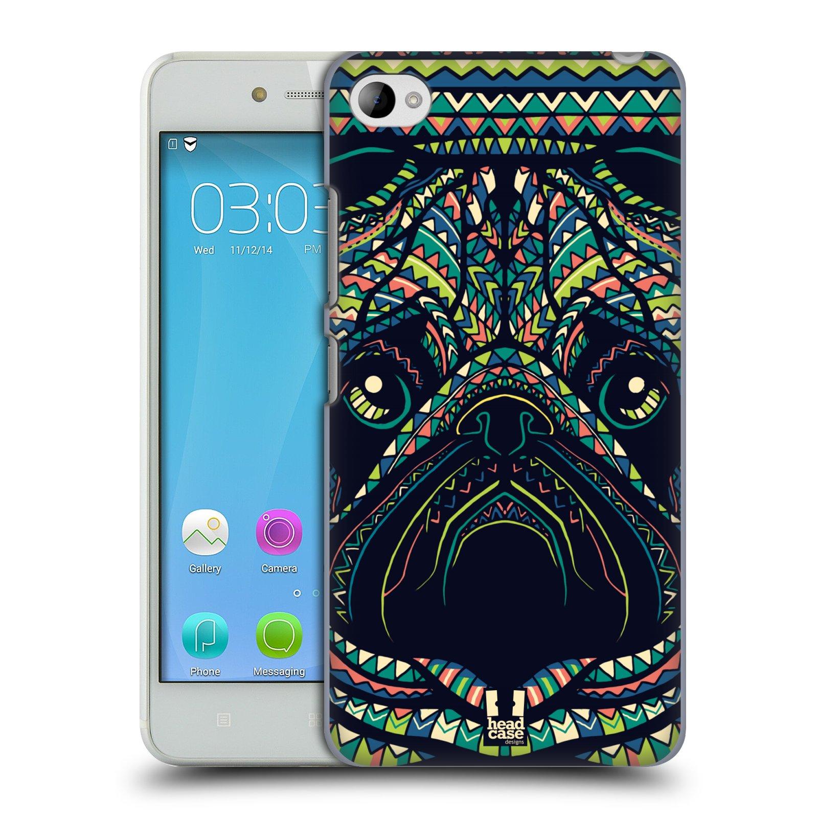 HEAD CASE pevný plastový obal na mobil LENOVO S90 vzor Aztécký motiv zvíře 3 mopsík