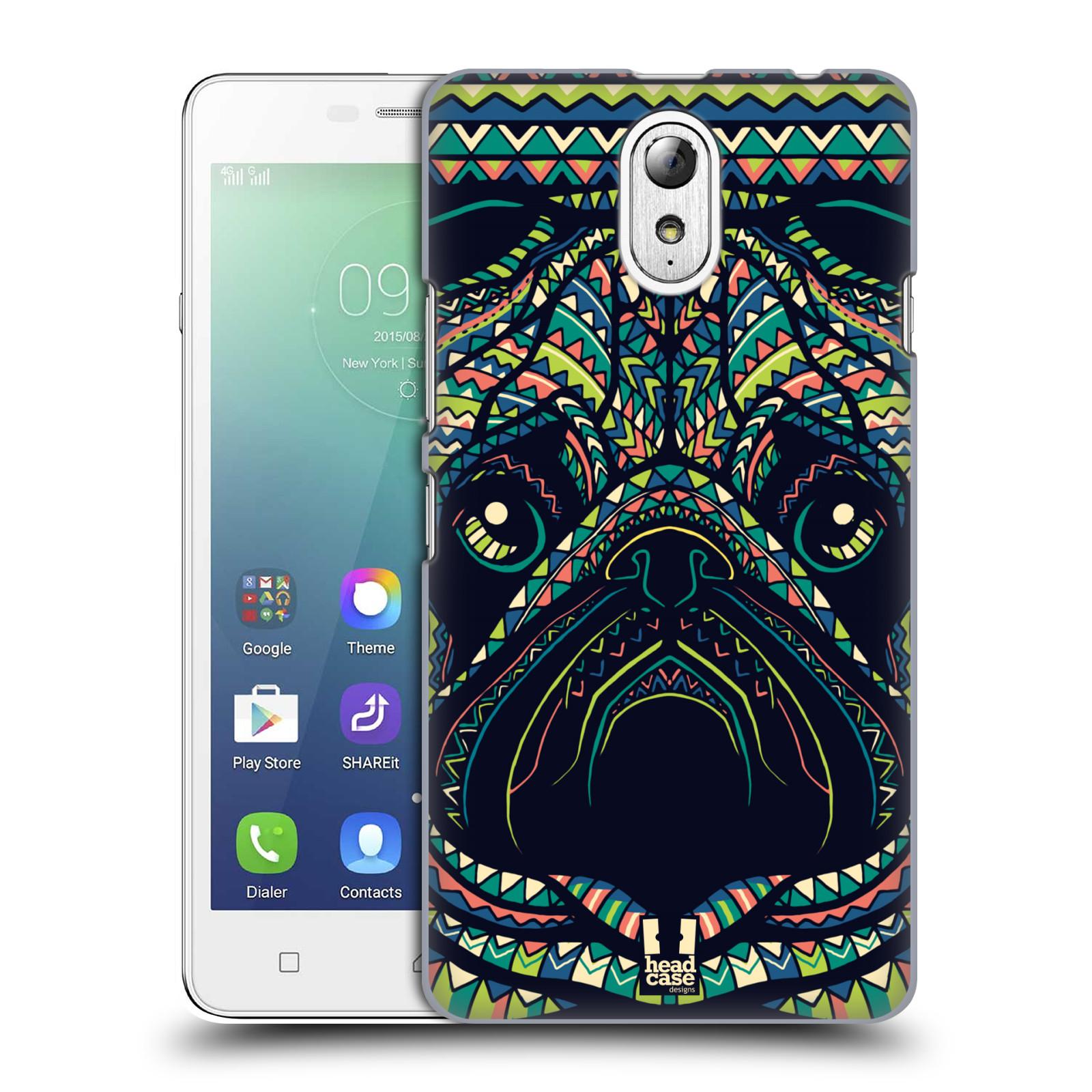 HEAD CASE pevný plastový obal na mobil LENOVO VIBE P1m / LENOVO VIBE p1m DUAL SIM vzor Aztécký motiv zvíře 3 mopsík