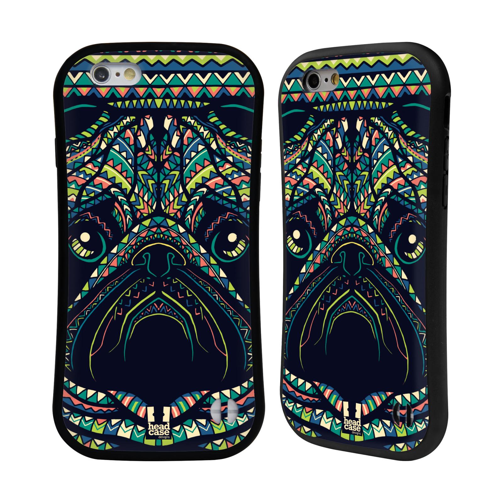 HEAD CASE silikon/plast odolný obal na mobil Apple Iphone 6/6S vzor Aztécký motiv zvíře 3 mopsík