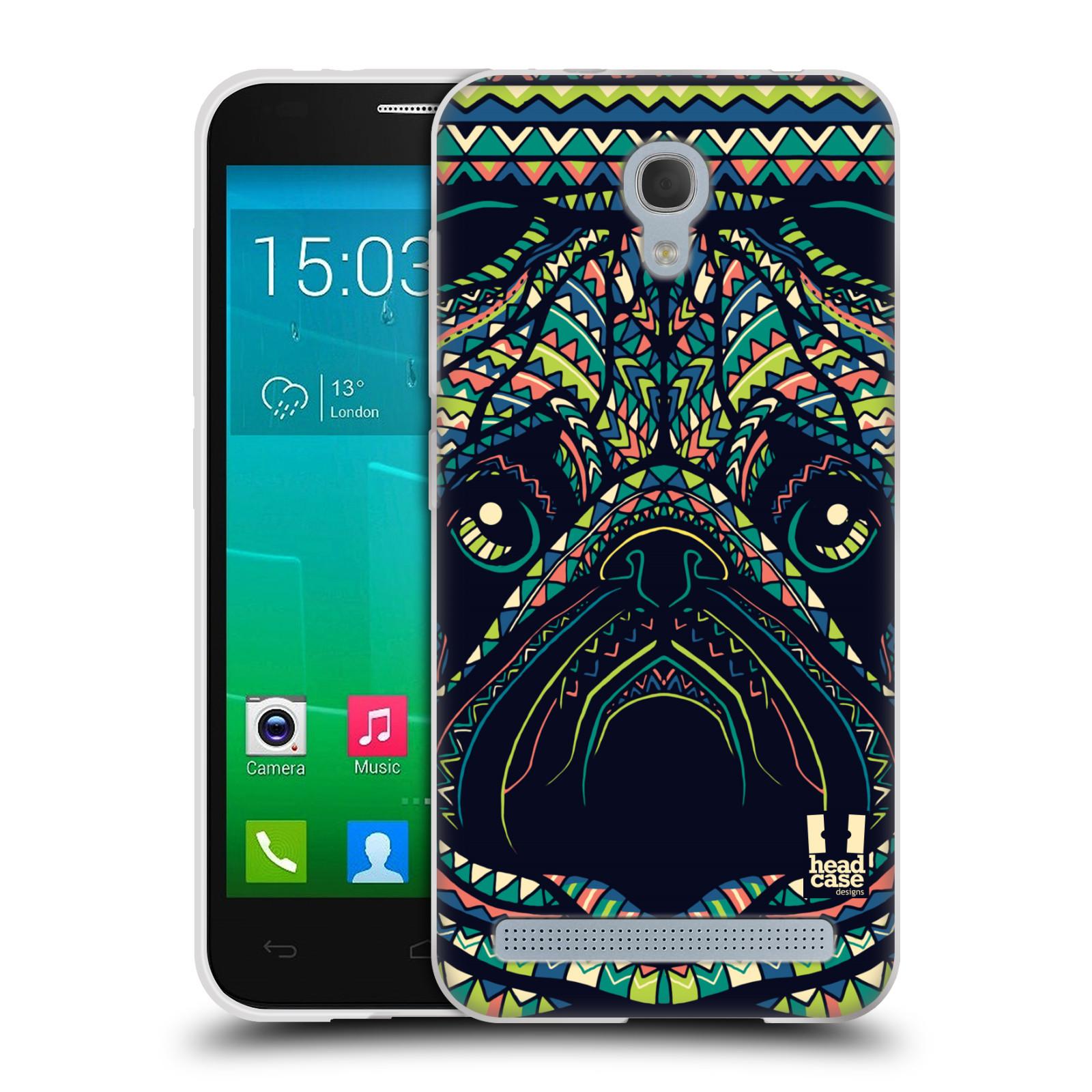 HEAD CASE silikonový obal na mobil Alcatel Idol 2 MINI S 6036Y vzor Aztécký motiv zvíře 3 mopsík