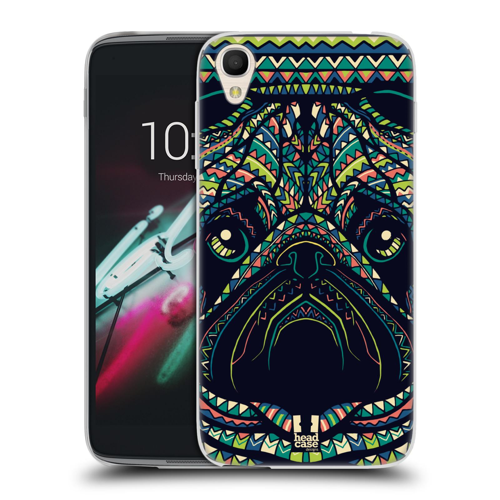 HEAD CASE silikonový obal na mobil Alcatel Idol 3 OT-6039Y (4.7) vzor Aztécký motiv zvíře 3 mopsík