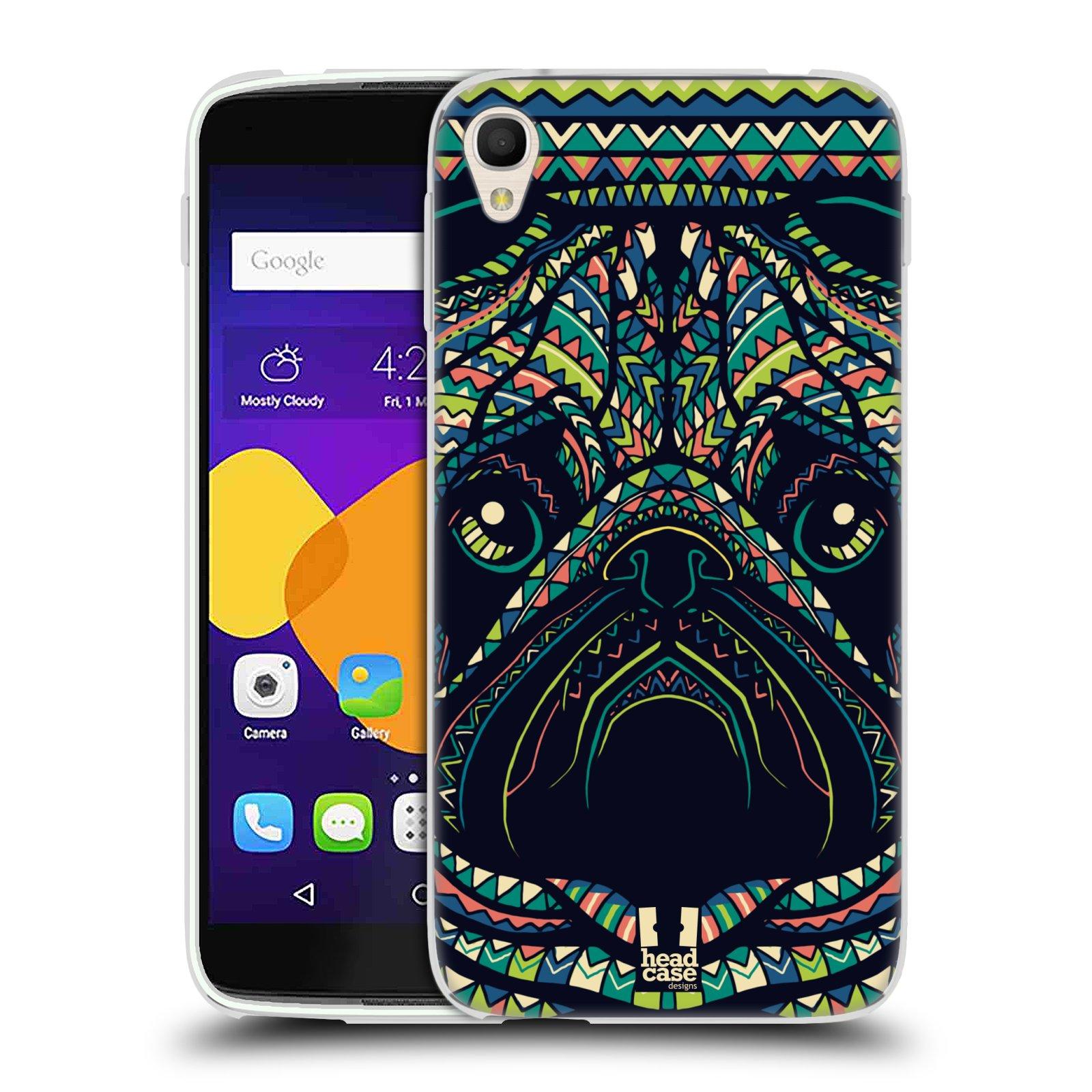 HEAD CASE silikonový obal na mobil Alcatel Idol 3 OT-6045Y (5.5) vzor Aztécký motiv zvíře 3 mopsík