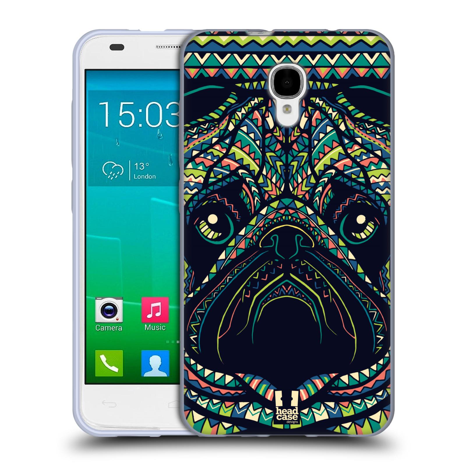 HEAD CASE silikonový obal na mobil Alcatel Idol 2 S OT-6050 vzor Aztécký motiv zvíře 3 mopsík