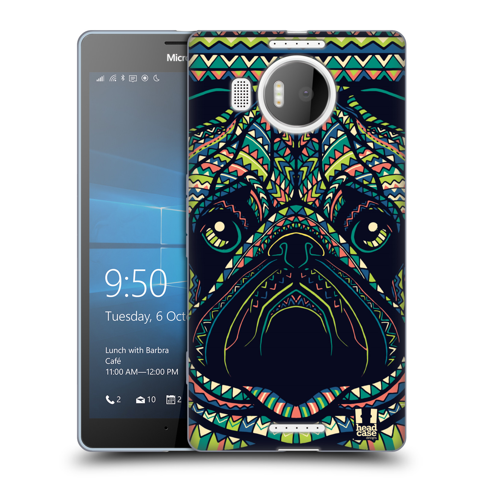 HEAD CASE silikonový obal na mobil NOKIA, MICROSOFT LUMIA 950 XL / LUMIA 950 XL DUAL SIM vzor Aztécký motiv zvíře 3 mopsík