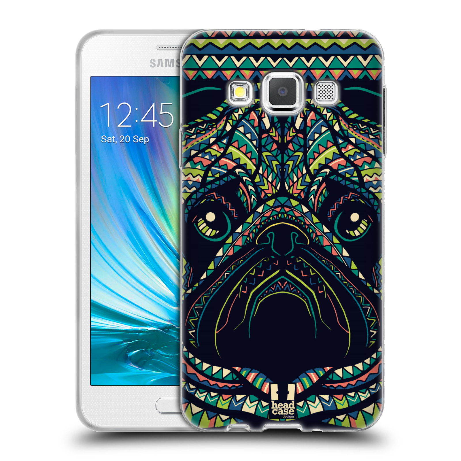 HEAD CASE silikonový obal na mobil Samsung Galaxy A3 vzor Aztécký motiv zvíře 3 mopsík