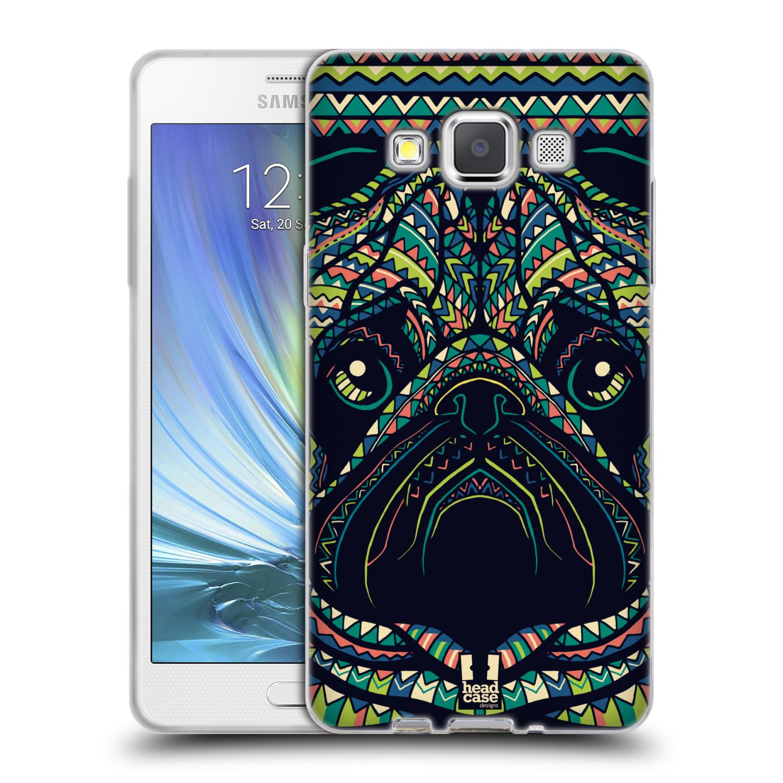 HEAD CASE silikonový obal na mobil Samsung Galaxy A5 vzor Aztécký motiv zvíře 3 mopsík