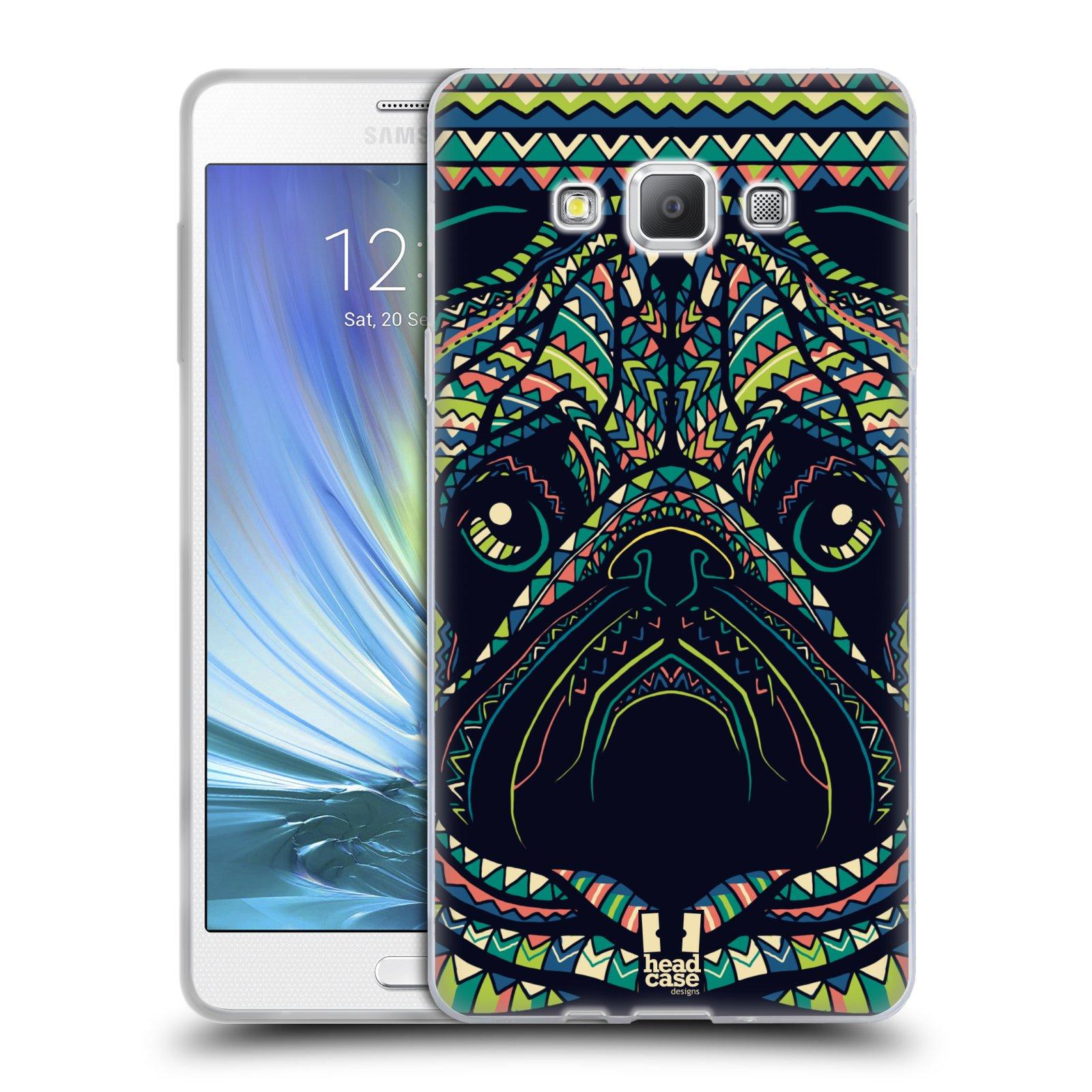 HEAD CASE silikonový obal na mobil Samsung Galaxy A7 vzor Aztécký motiv zvíře 3 mopsík