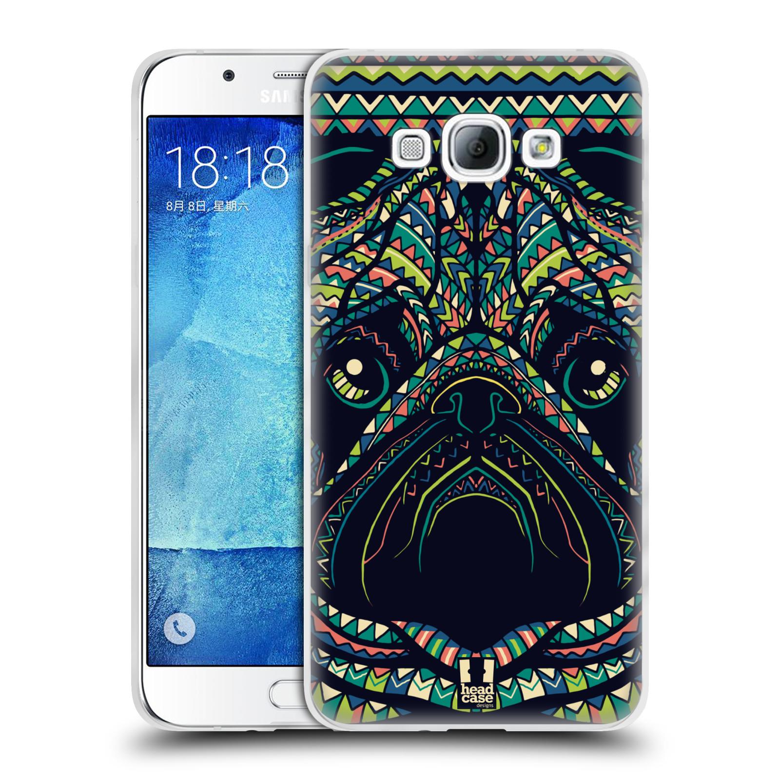 HEAD CASE silikonový obal na mobil Samsung Galaxy A8 vzor Aztécký motiv zvíře 3 mopsík