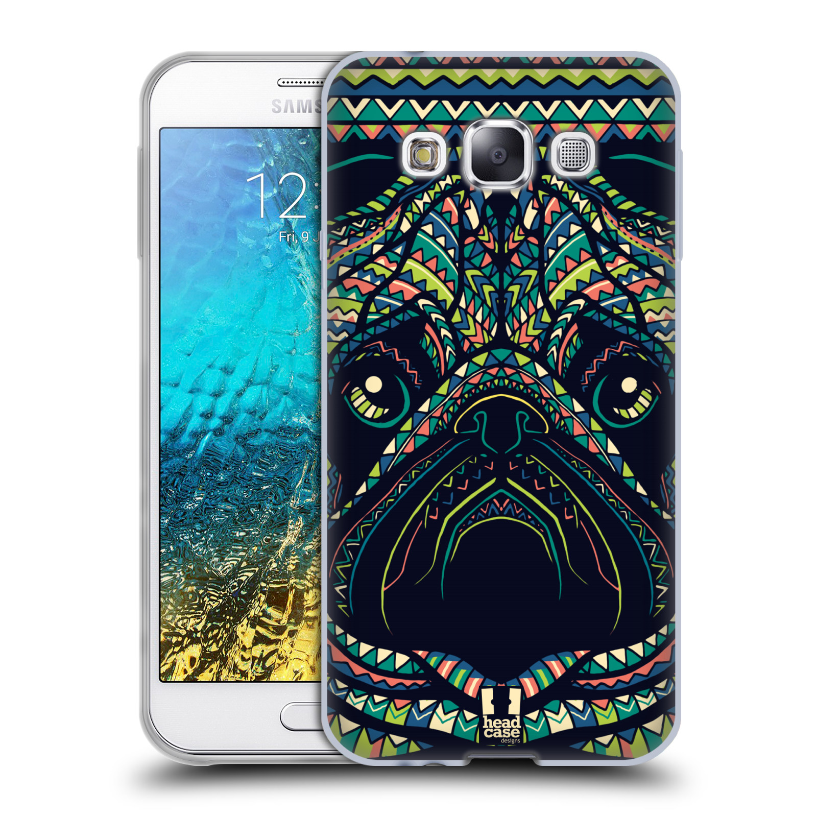 HEAD CASE silikonový obal na mobil Samsung Galaxy E5 vzor Aztécký motiv zvíře 3 mopsík