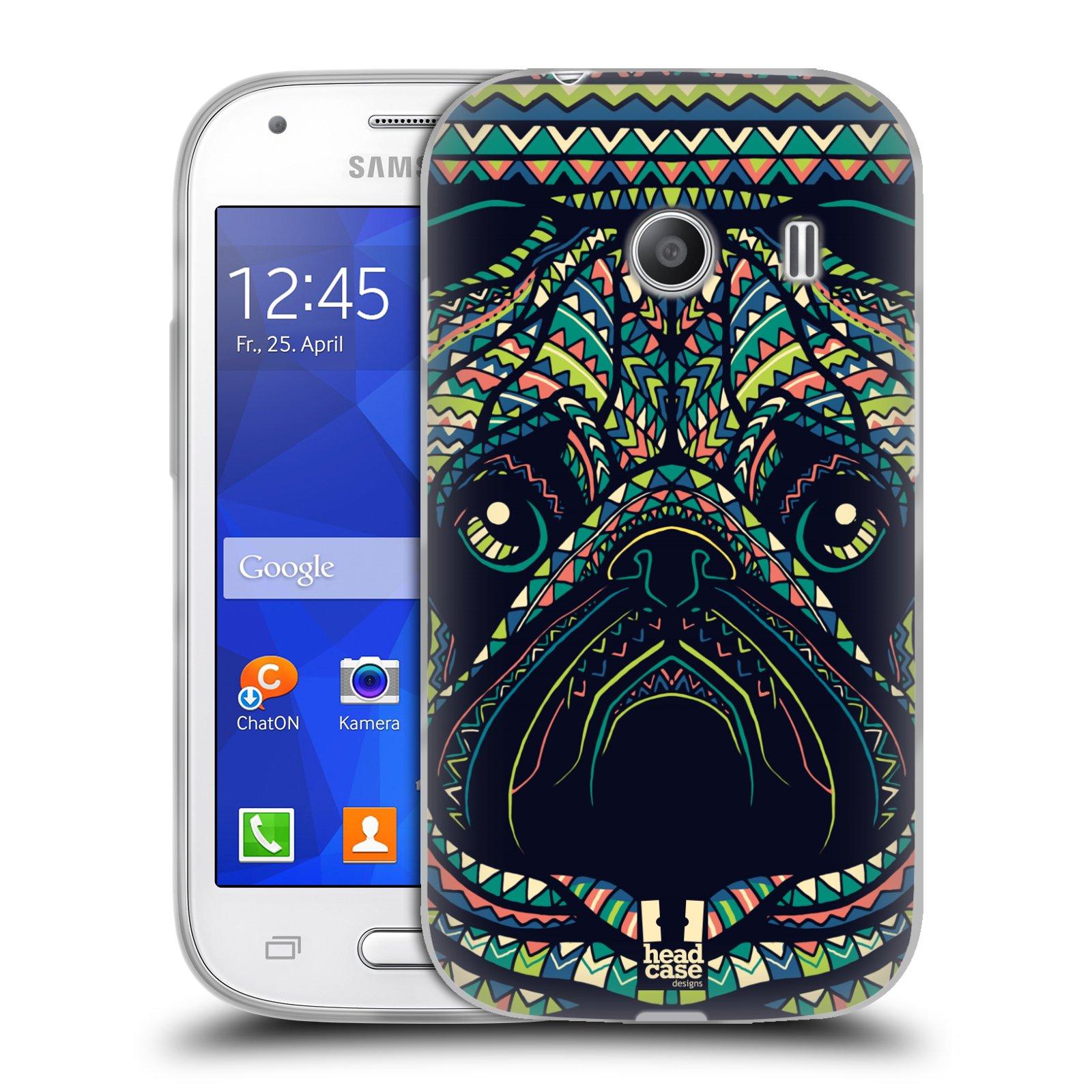 HEAD CASE silikonový obal na mobil Samsung Galaxy Ace Style (G310) vzor Aztécký motiv zvíře 3 mopsík