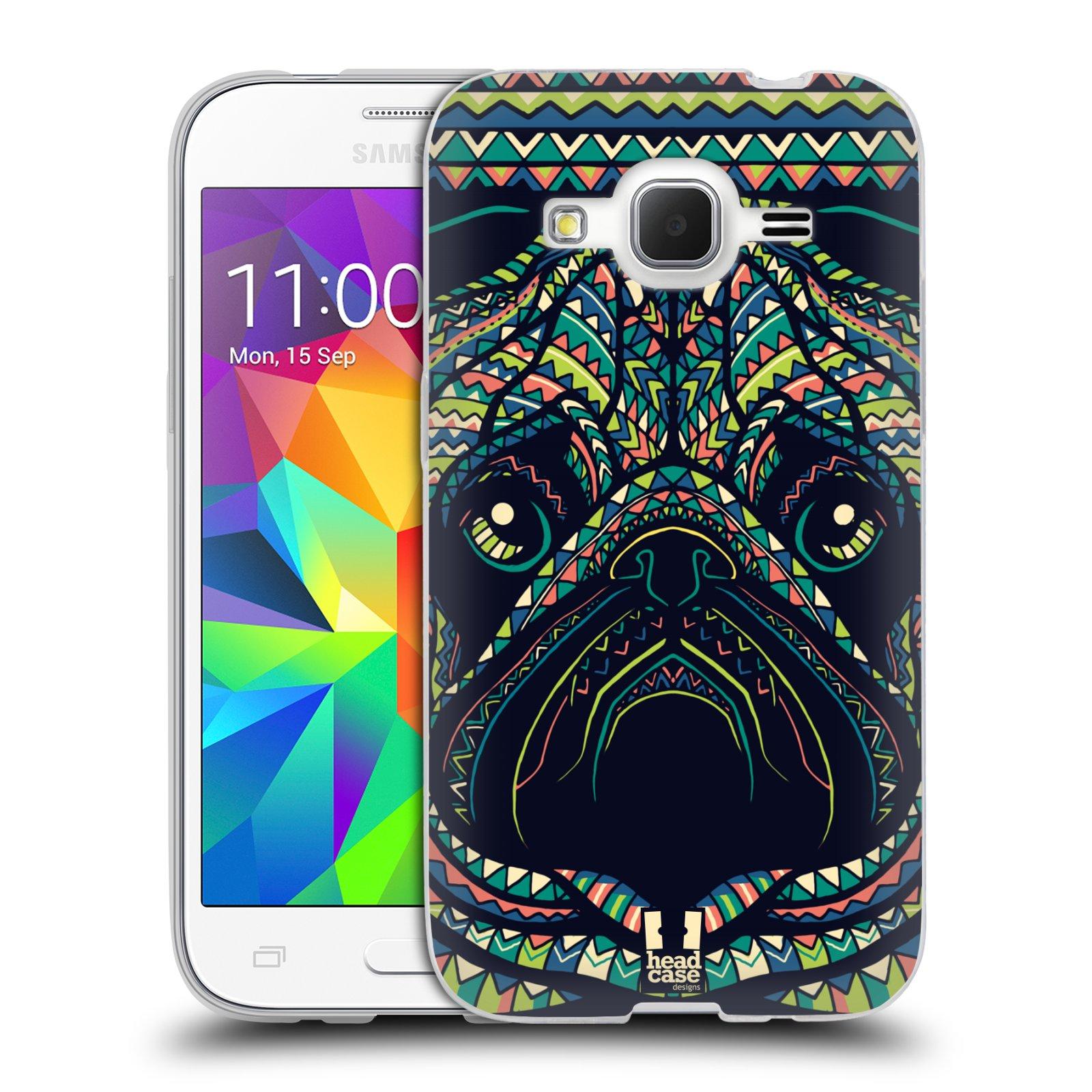 HEAD CASE silikonový obal na mobil Samsung Galaxy Core Prime (G360) vzor Aztécký motiv zvíře 3 mopsík