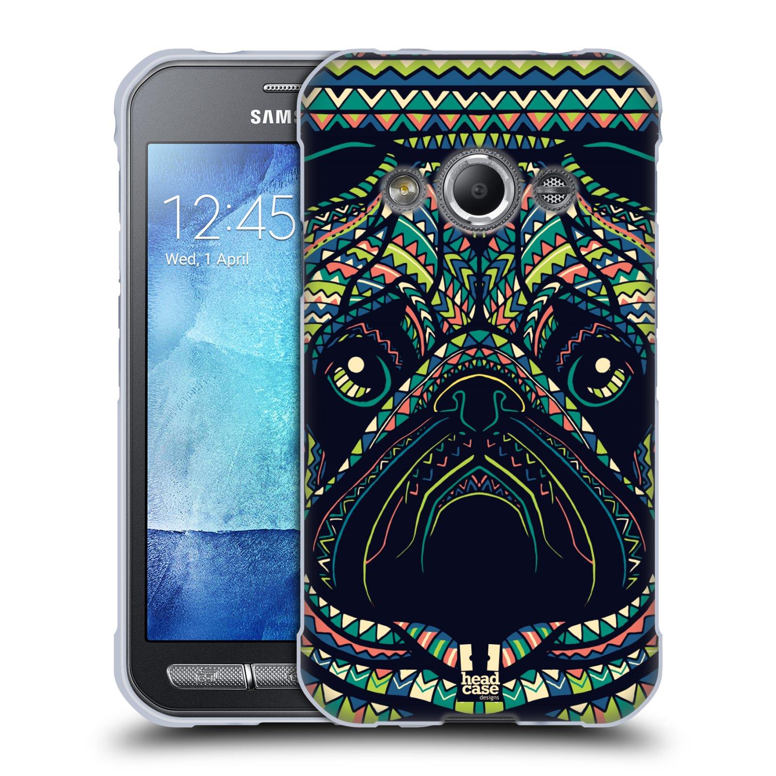 HEAD CASE silikonový obal na mobil Samsung Galaxy Xcover 3 vzor Aztécký motiv zvíře 3 mopsík
