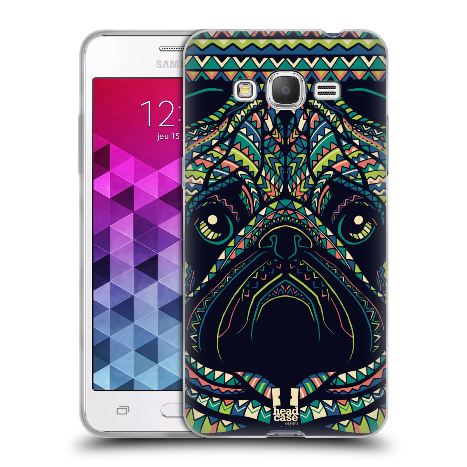 HEAD CASE silikonový obal na mobil Samsung Galaxy GRAND PRIME vzor Aztécký motiv zvíře 3 mopsík