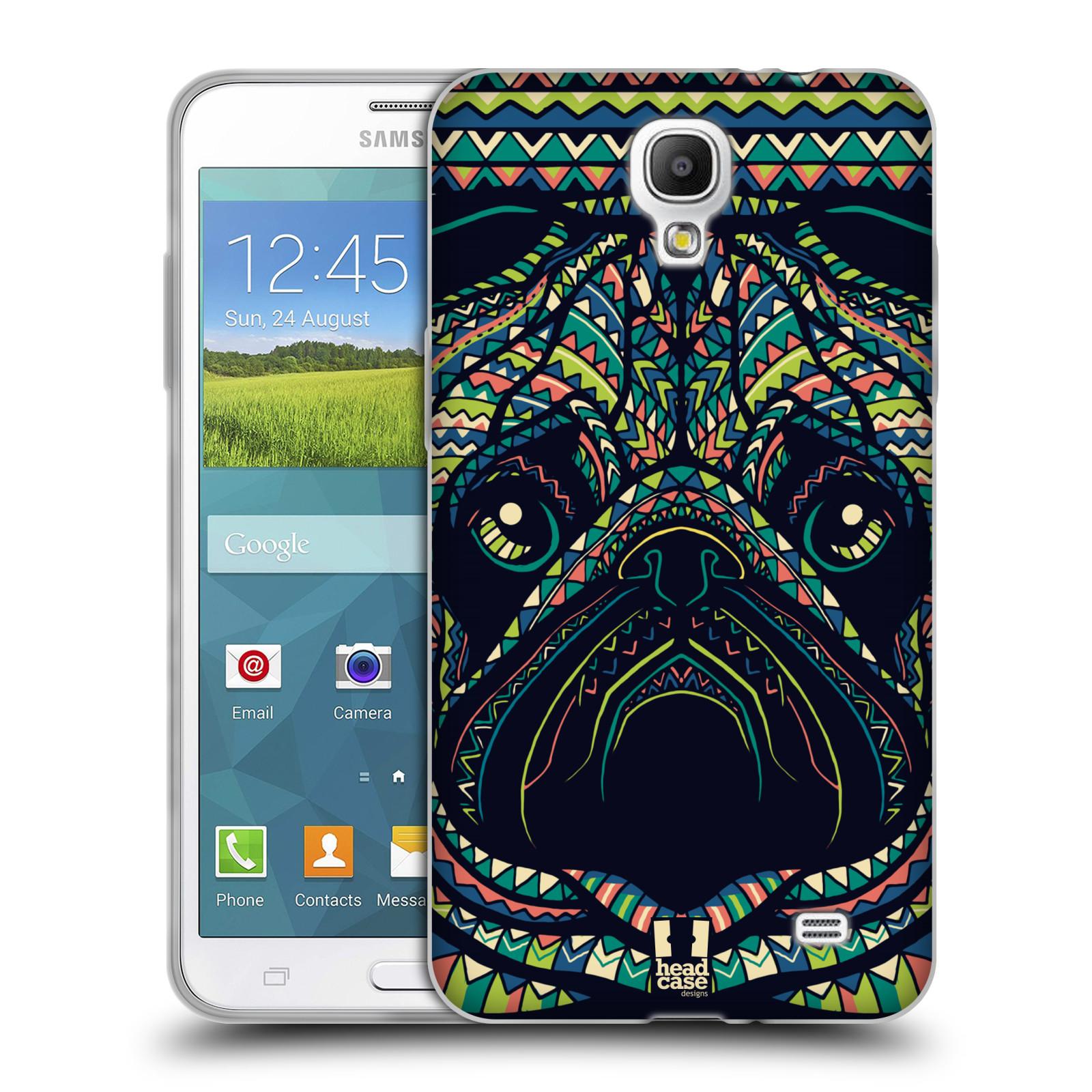 HEAD CASE silikonový obal na mobil Samsung Galaxy Mega 2 vzor Aztécký motiv zvíře 3 mopsík