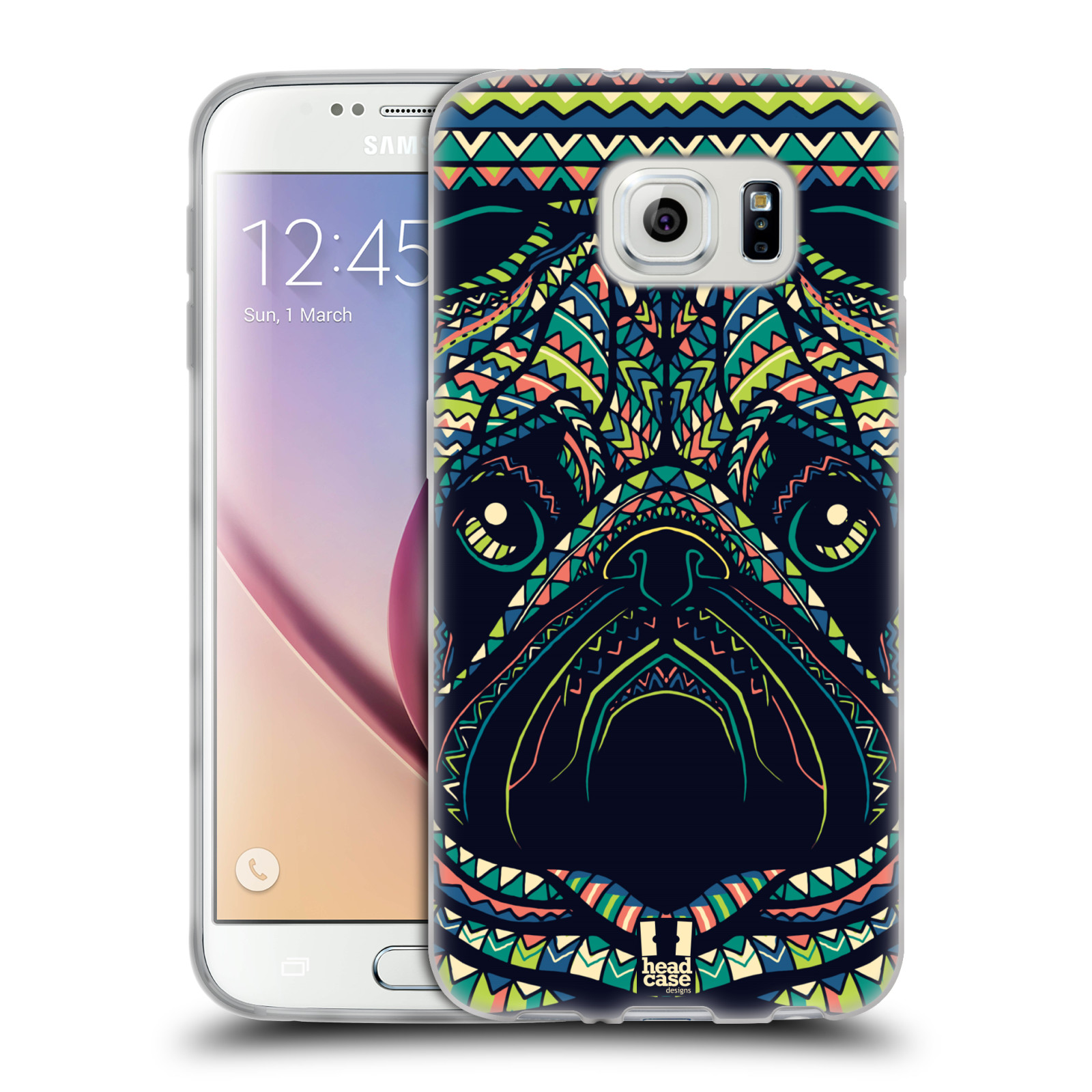 HEAD CASE silikonový obal na mobil Samsung Galaxy S6 vzor Aztécký motiv zvíře 3 mopsík