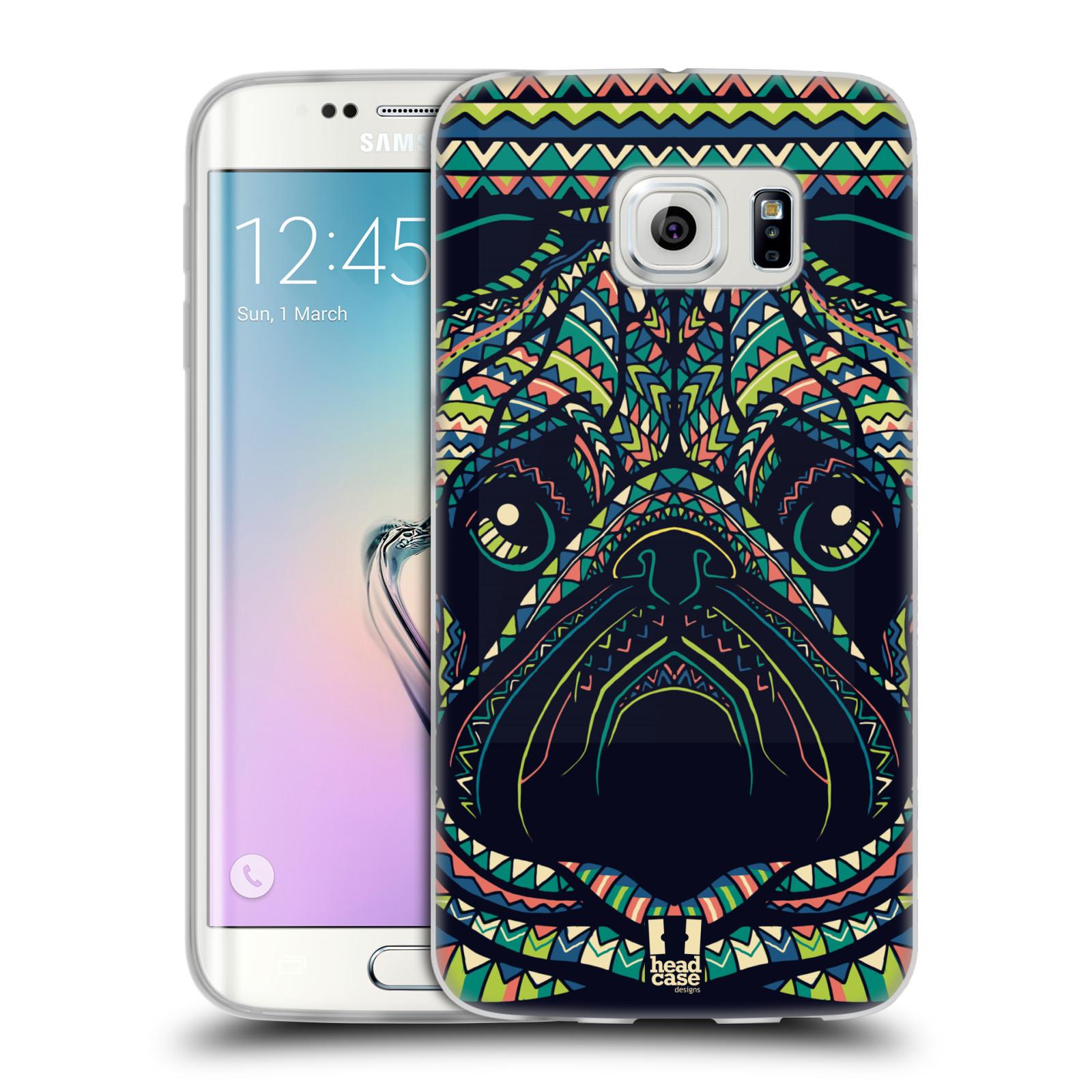 HEAD CASE silikonový obal na mobil Samsung Galaxy S6 EDGE vzor Aztécký motiv zvíře 3 mopsík