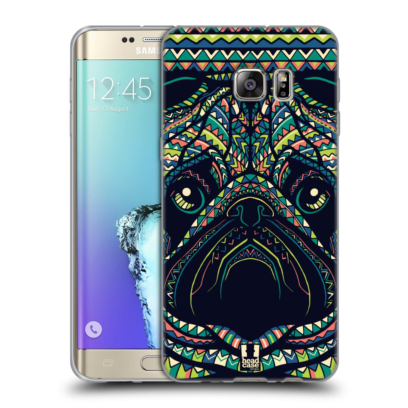 HEAD CASE silikonový obal na mobil Samsung Galaxy S6 EDGE PLUS vzor Aztécký motiv zvíře 3 mopsík