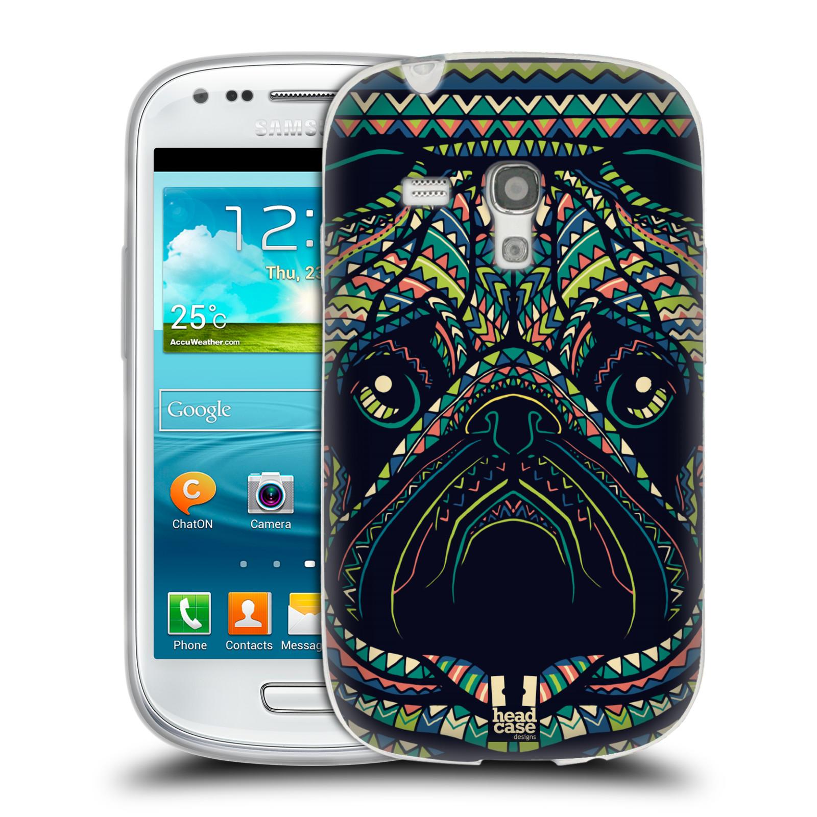 HEAD CASE silikonový obal na mobil Samsung Galaxy S3 MINI i8190 vzor Aztécký motiv zvíře 3 mopsík