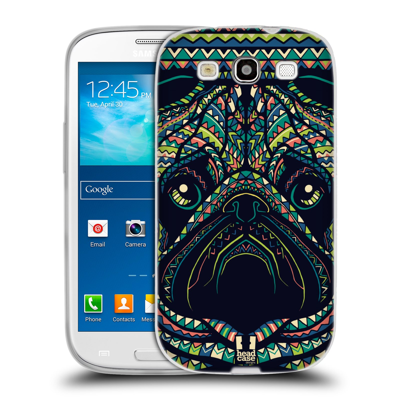 HEAD CASE silikonový obal na mobil Samsung Galaxy S3 i9300 vzor Aztécký motiv zvíře 3 mopsík