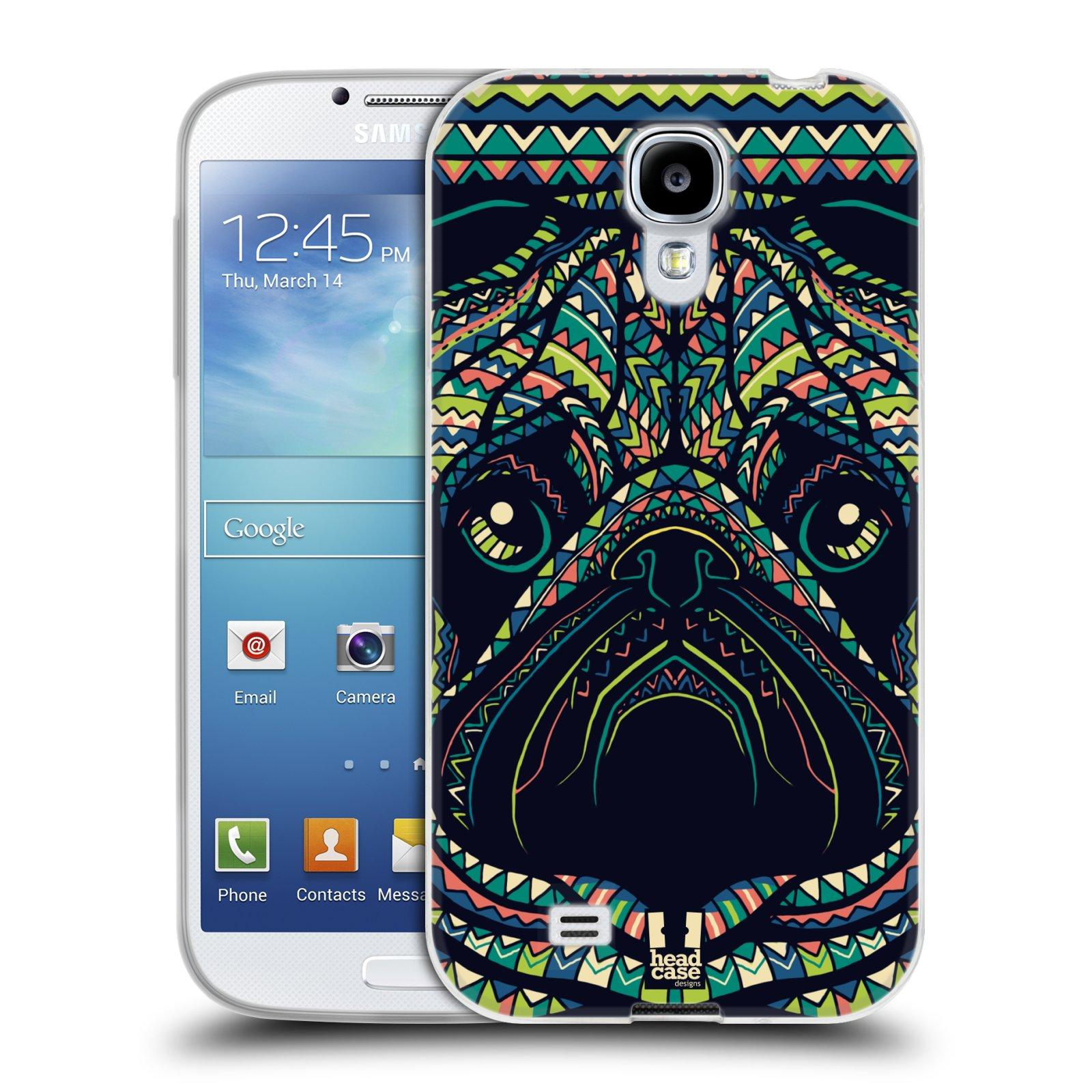 HEAD CASE silikonový obal na mobil Samsung Galaxy S4 i9500 vzor Aztécký motiv zvíře 3 mopsík